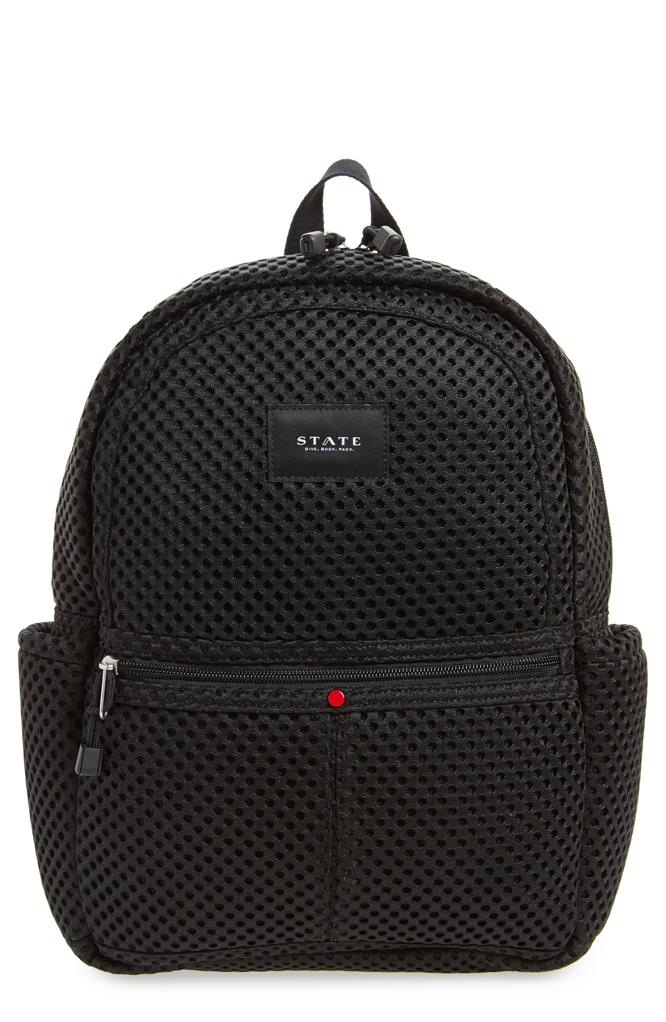 Lacrosse Mesh Kane Backpack,                         Main,                         color, Black