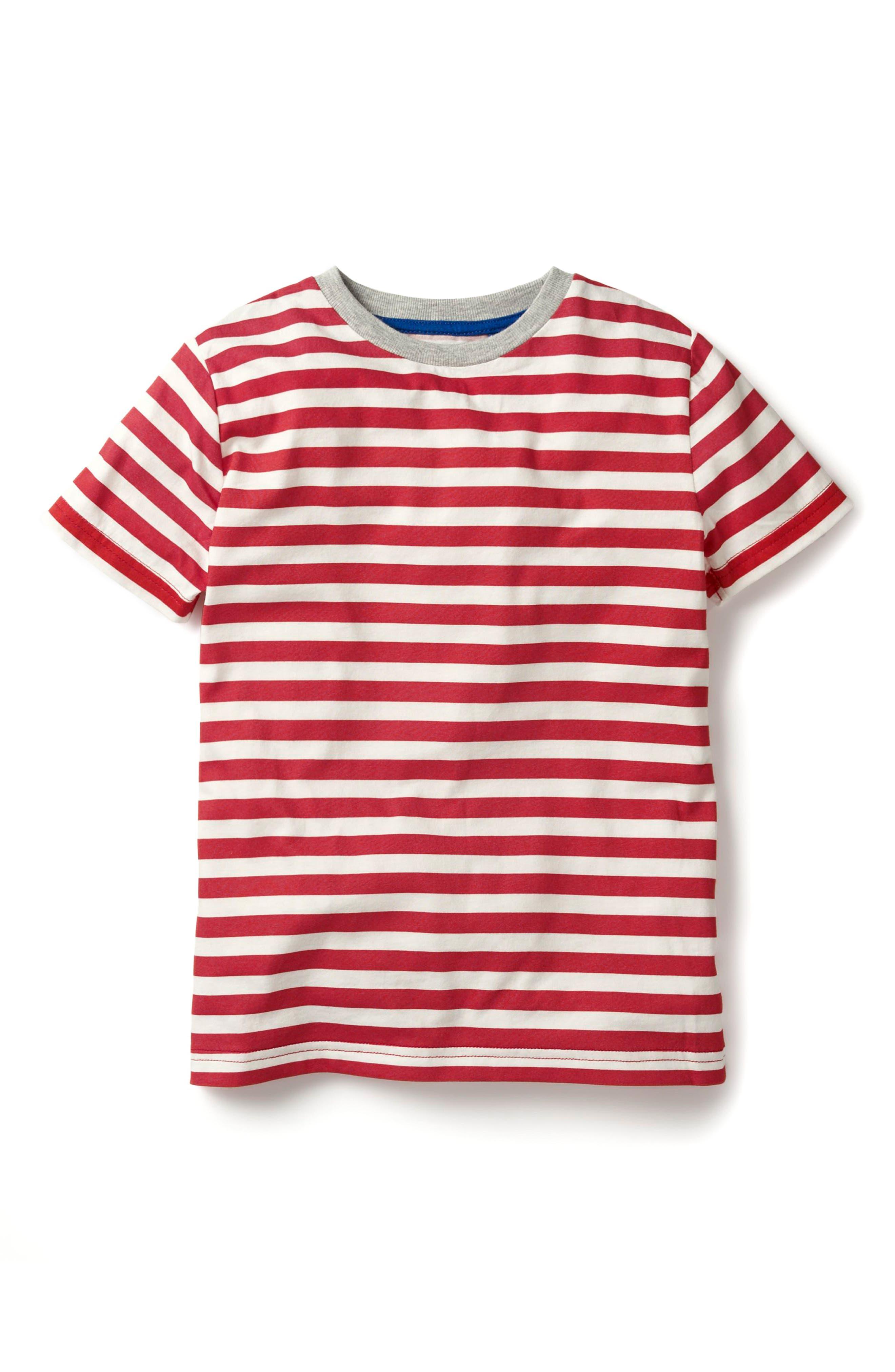 Mini Boden Stripe Slub Washed T-Shirt (Toddler Boys, Little Boys & Big Boys)
