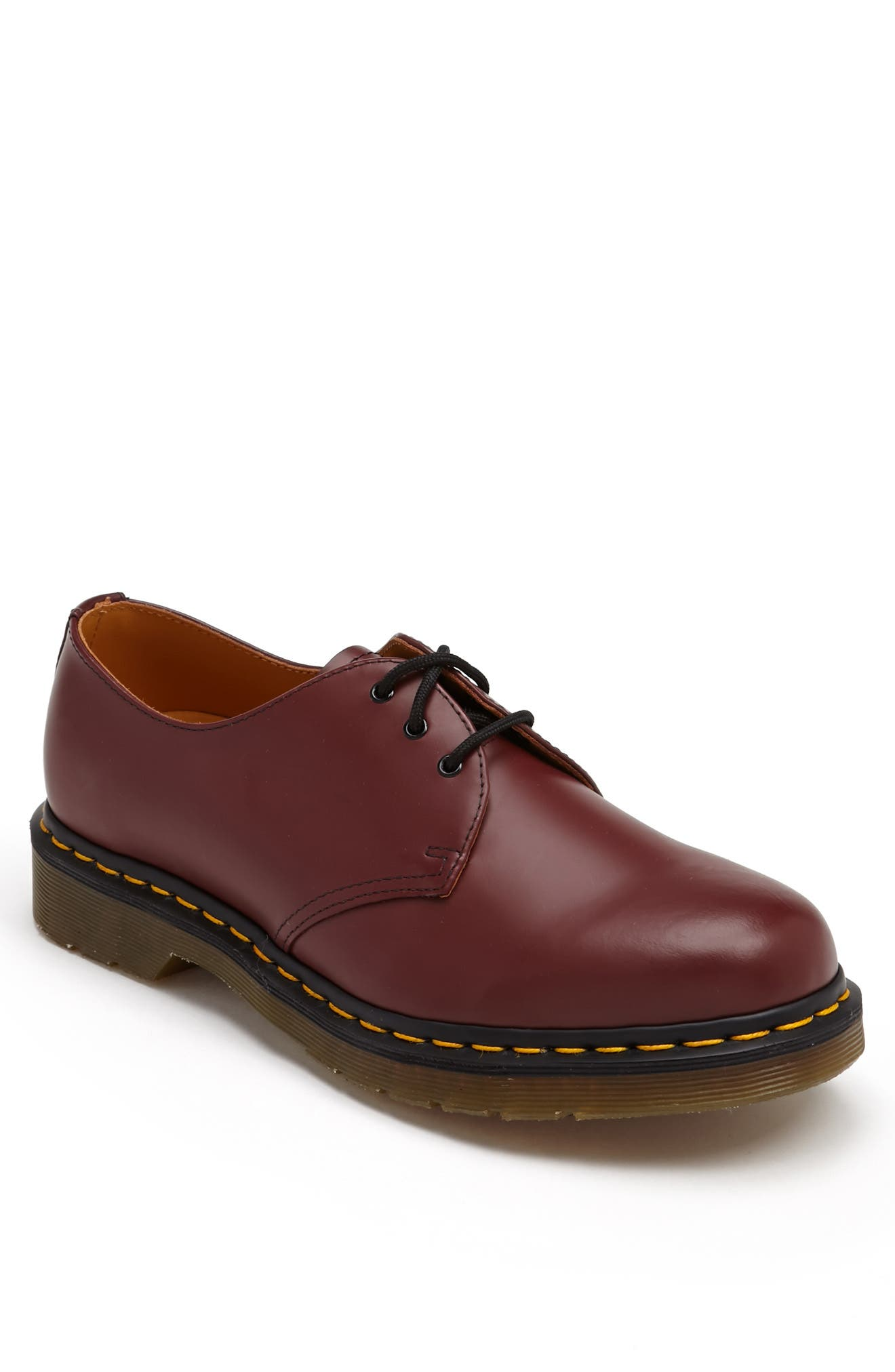 Plain Toe Derby,                             Main thumbnail 1, color,                             Cherry Smooth