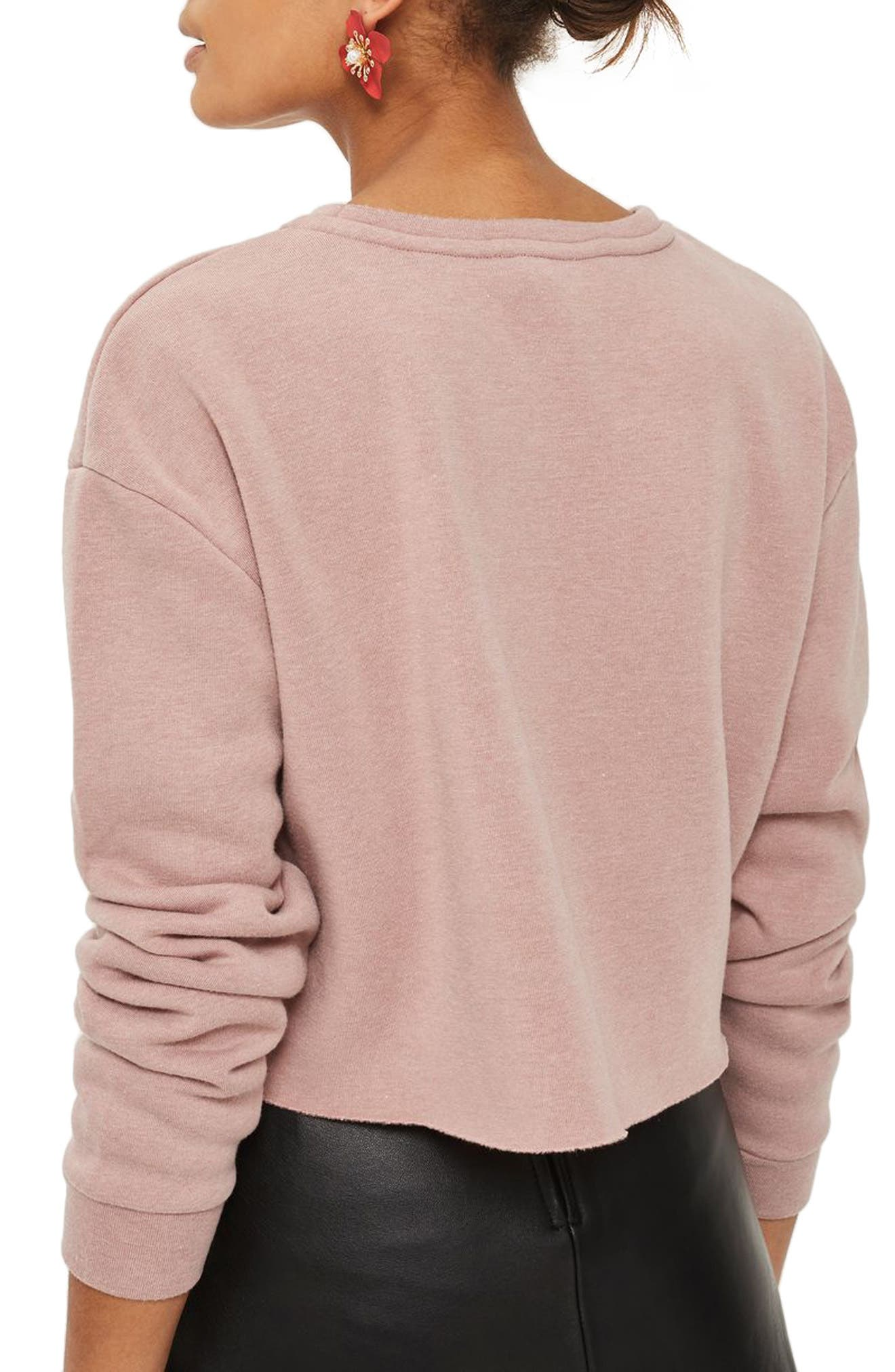 Alternate Image 2  - Topshop Promises Crop Sweatshirt