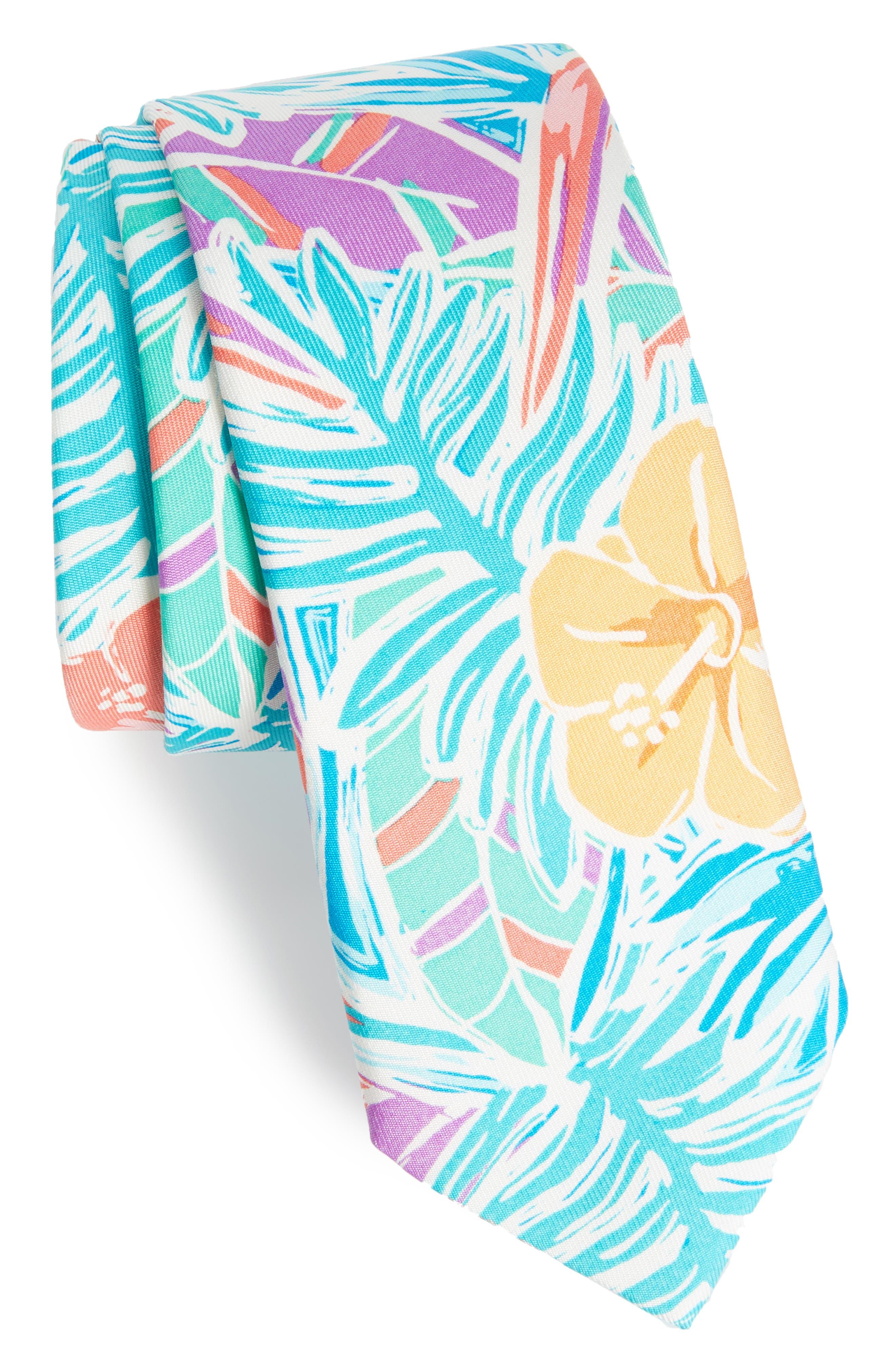 Gulf Tropic Silk Tie,                         Main,                         color, Green