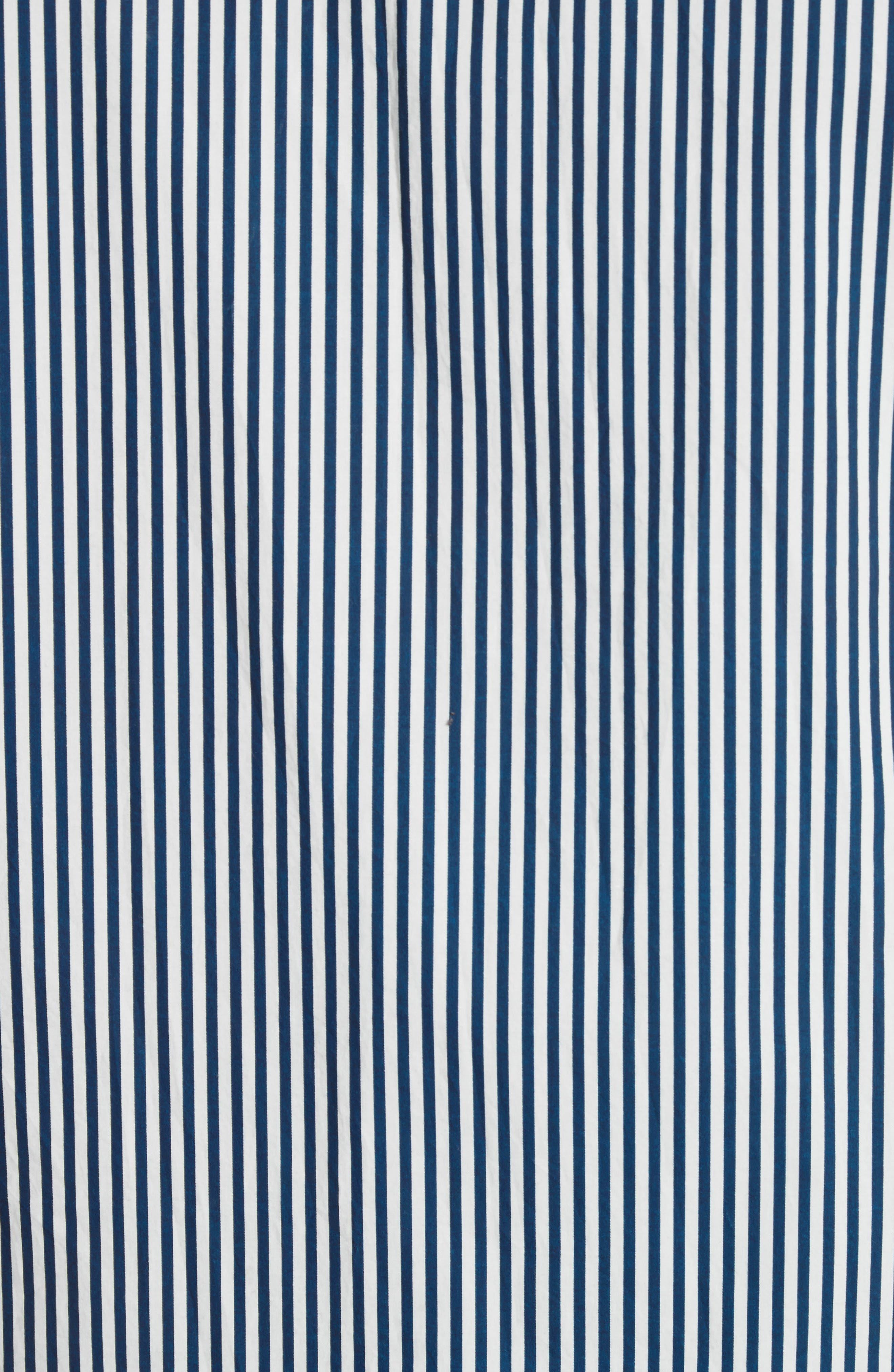 Stripe Woven Shirt,                             Alternate thumbnail 5, color,                             White