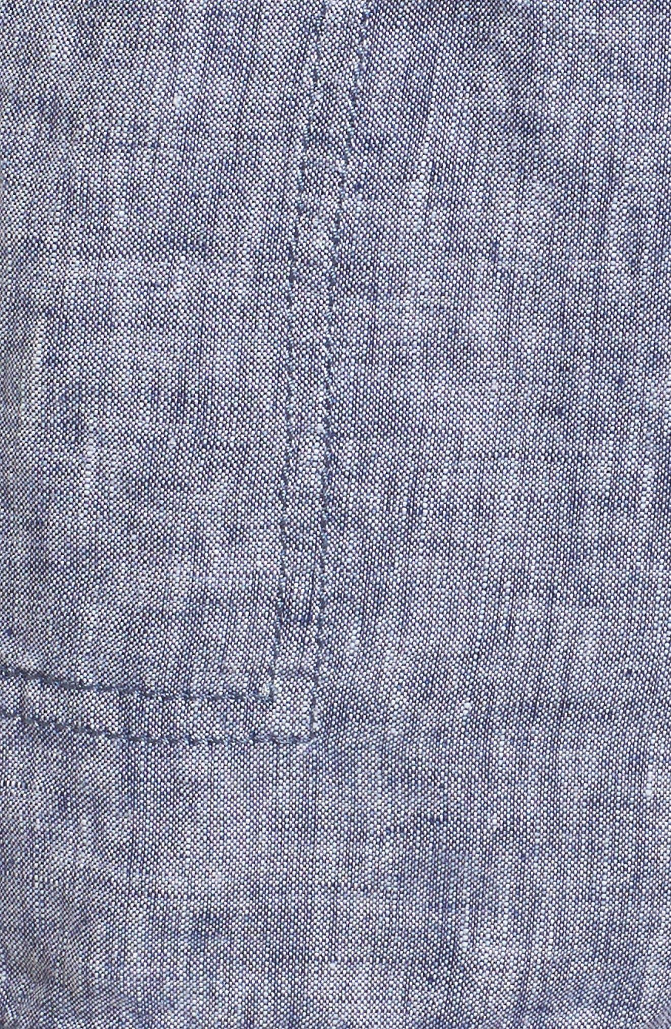 Alternate Image 5  - Caslon® Linen Shorts (Regular & Petite)