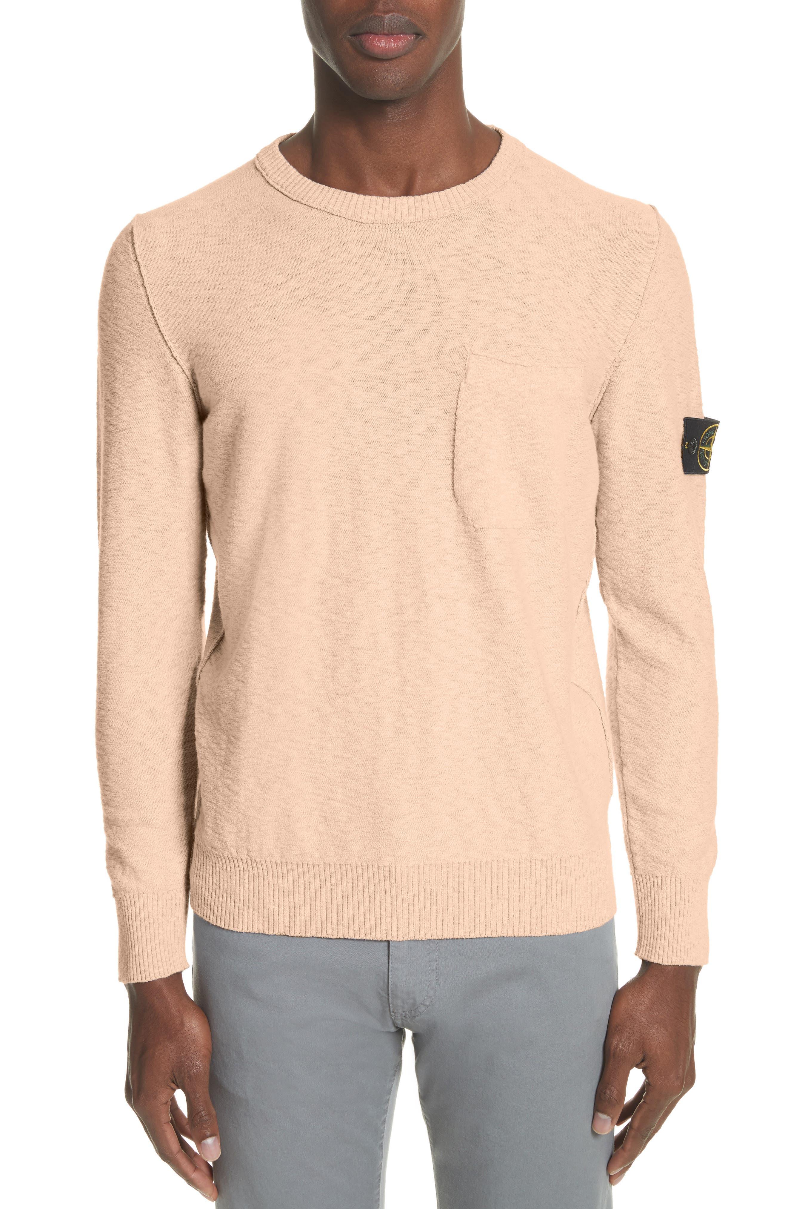 Garment Dyed Cotton Blend Sweatshirt,                             Main thumbnail 1, color,                             Coral