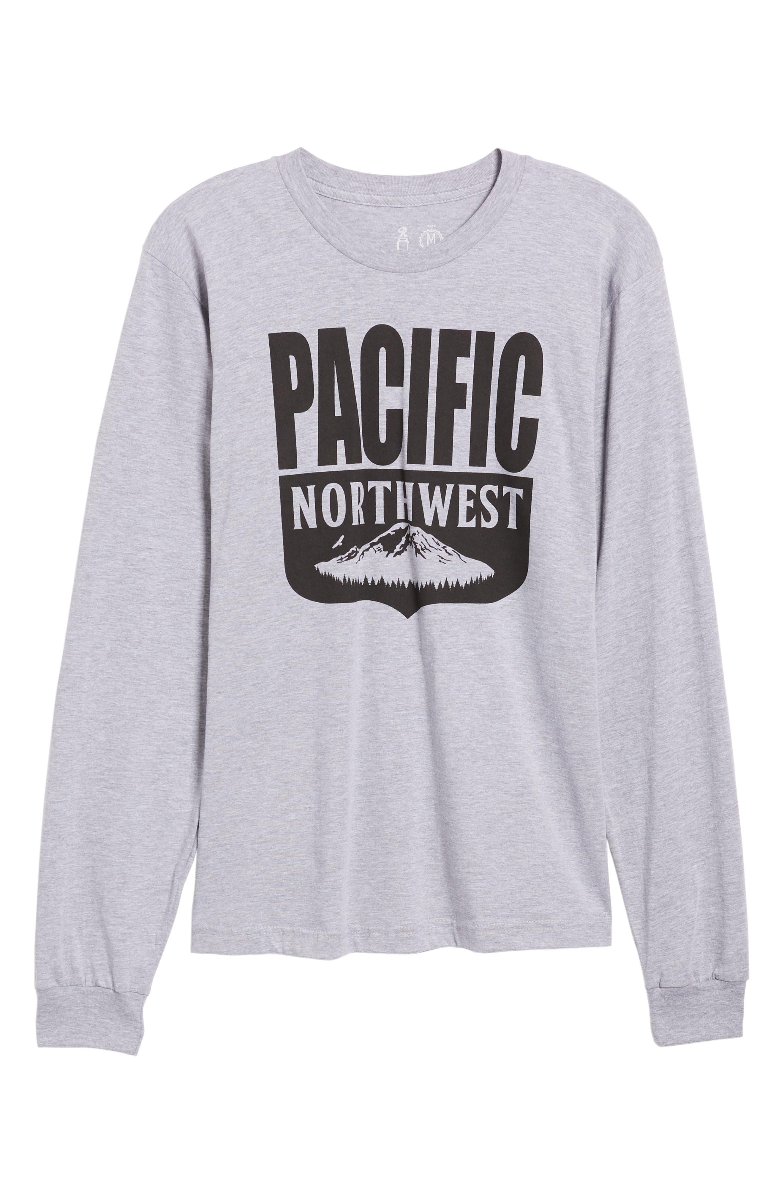 PNW Shield Sweatshirt,                             Alternate thumbnail 6, color,                             Heather Grey