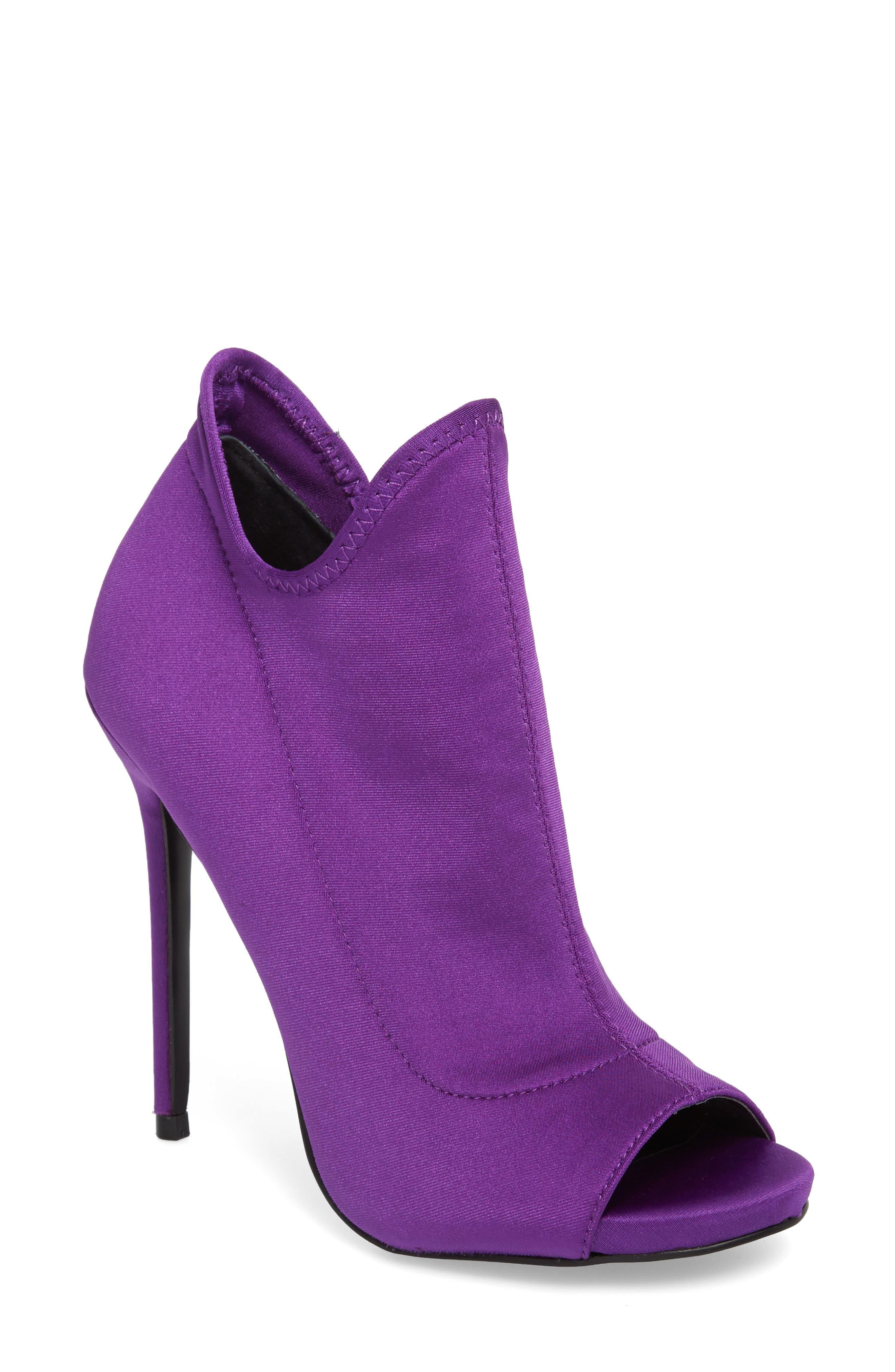 Secure Sock Bootie,                         Main,                         color, Purple