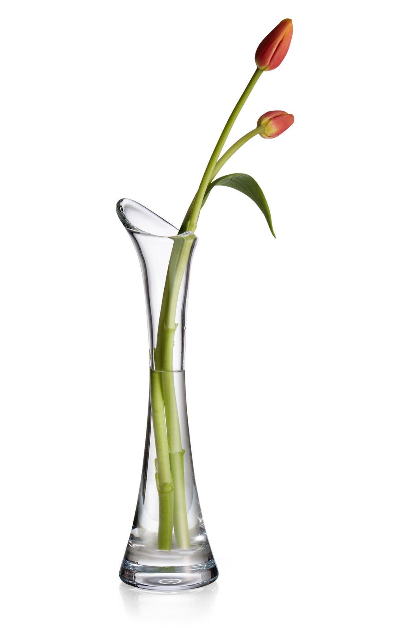 Moderne Tall Vase,                             Alternate thumbnail 2, color,                             Clear