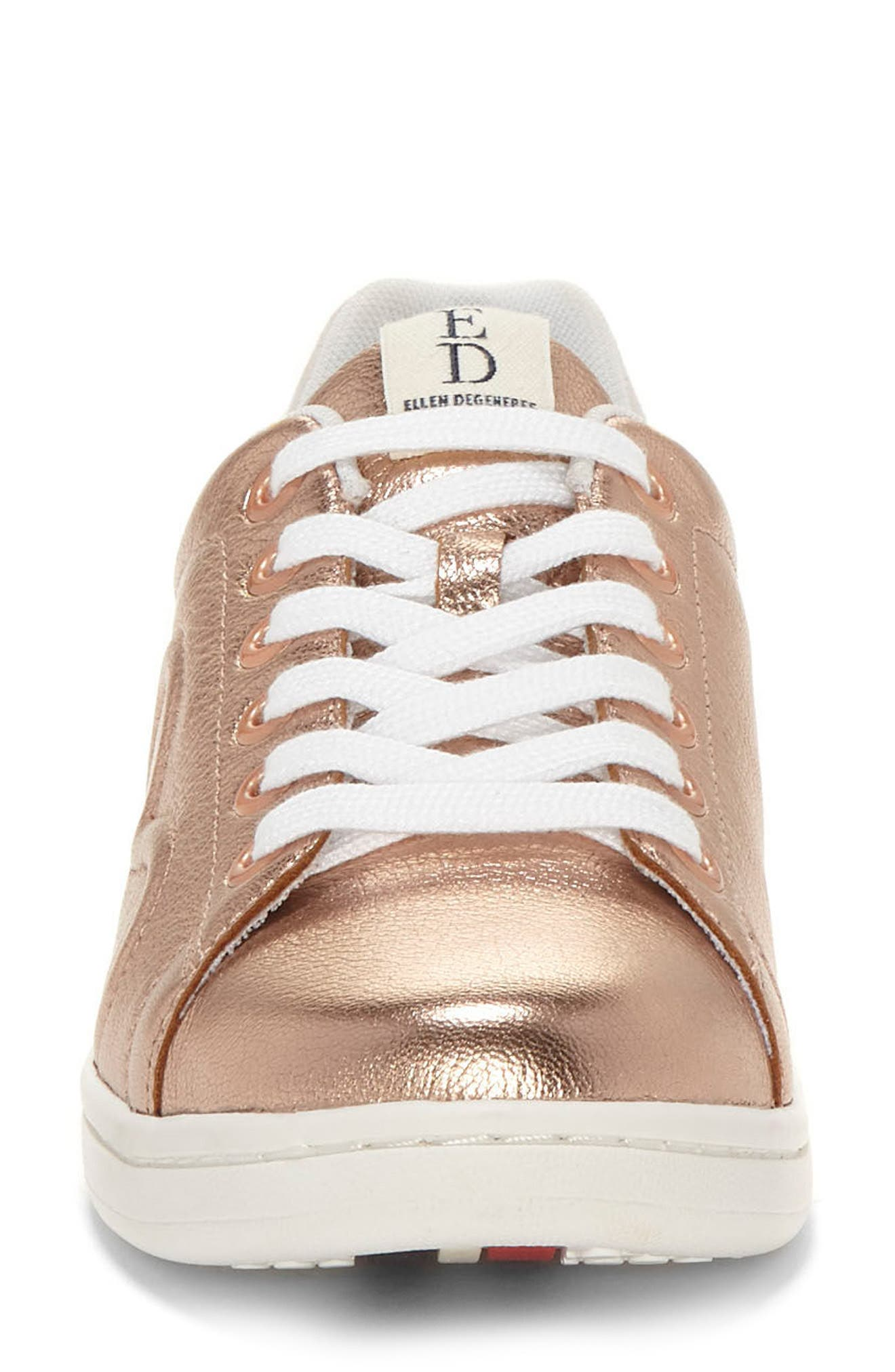 Chapunto Sneaker,                             Alternate thumbnail 5, color,                             Rose Gold Leather