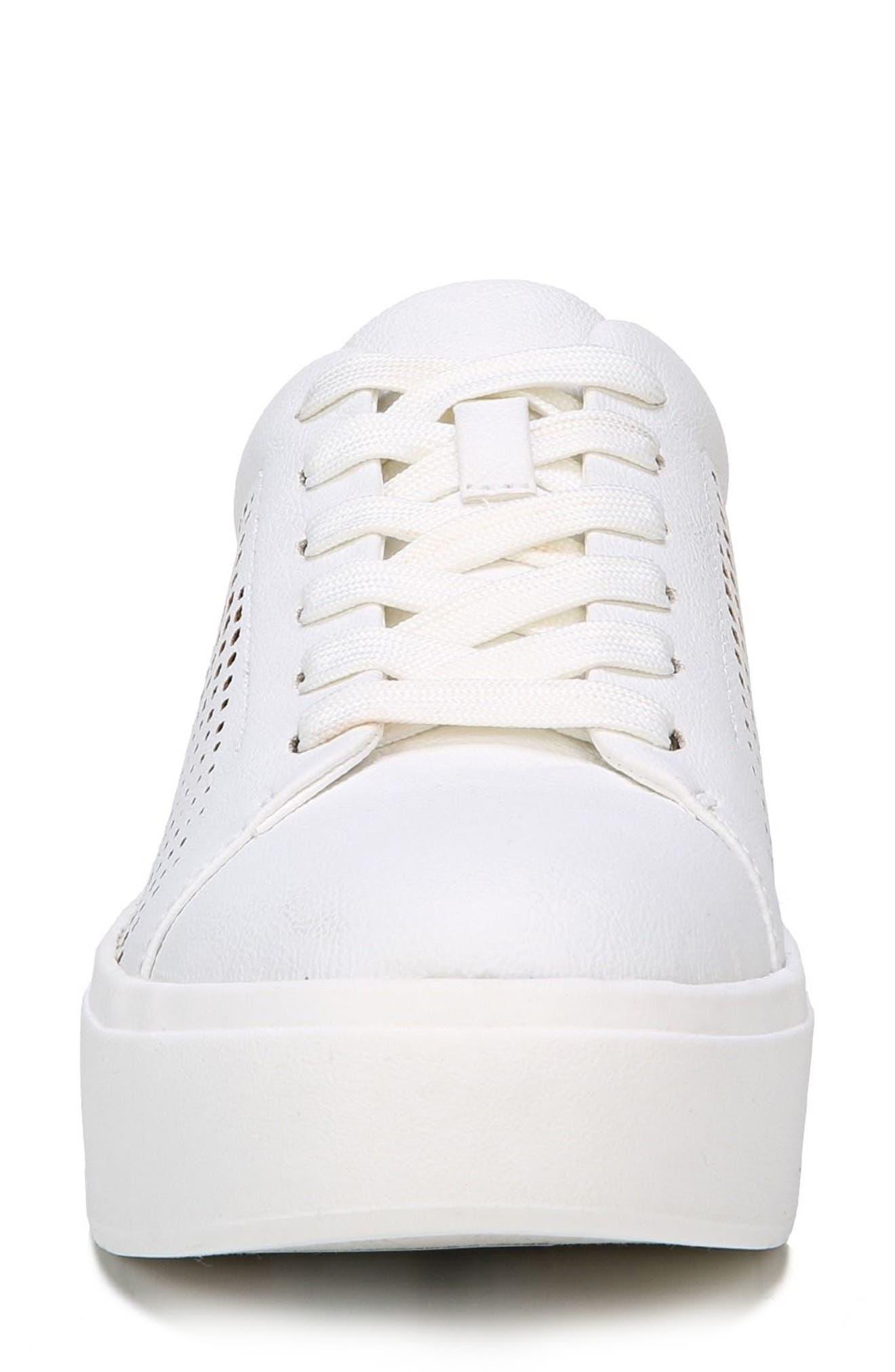 Kinney Platform Sneaker,                             Alternate thumbnail 4, color,                             White