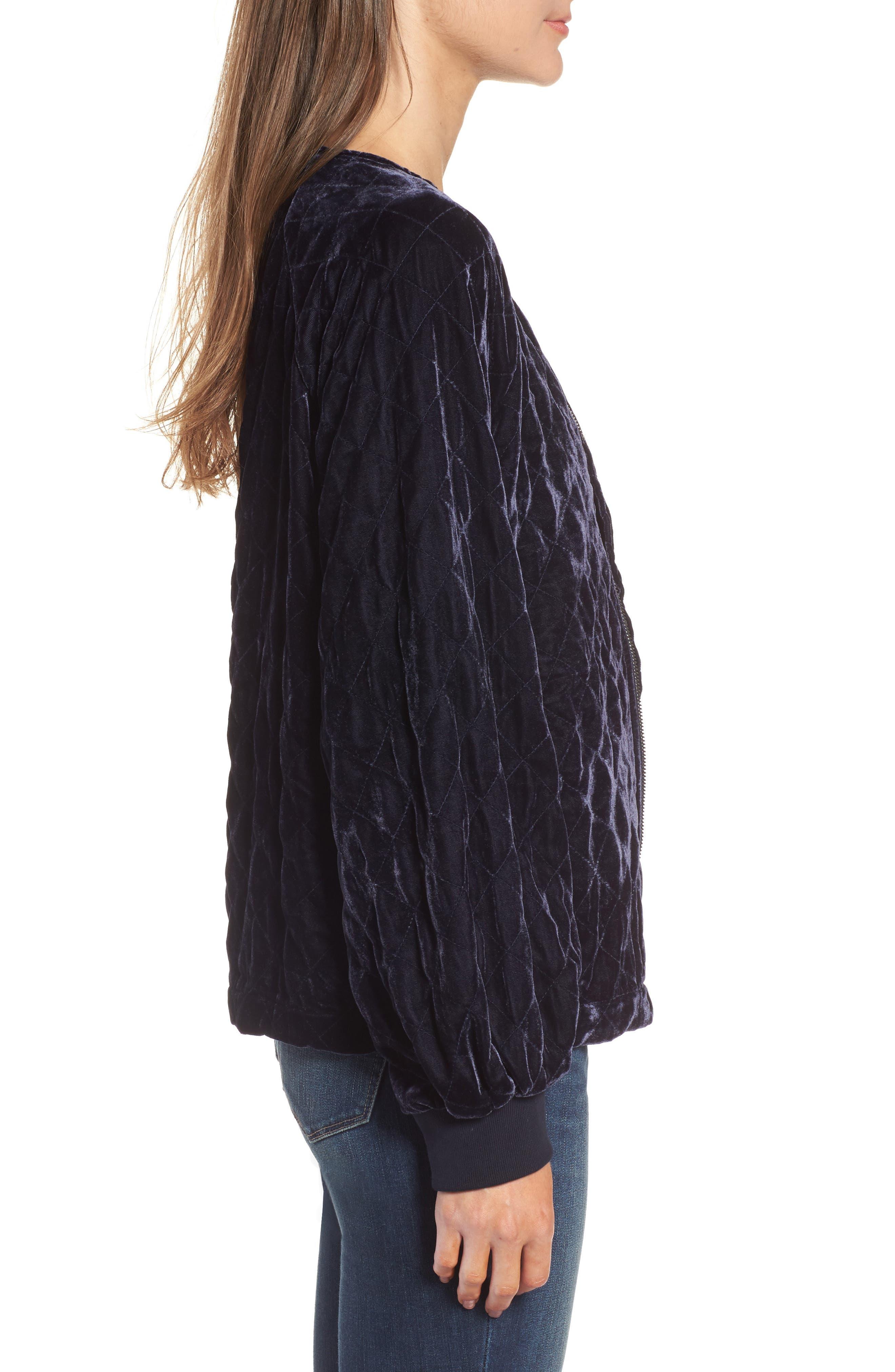 Alternate Image 3  - Hinge Quilted Velvet Jacket