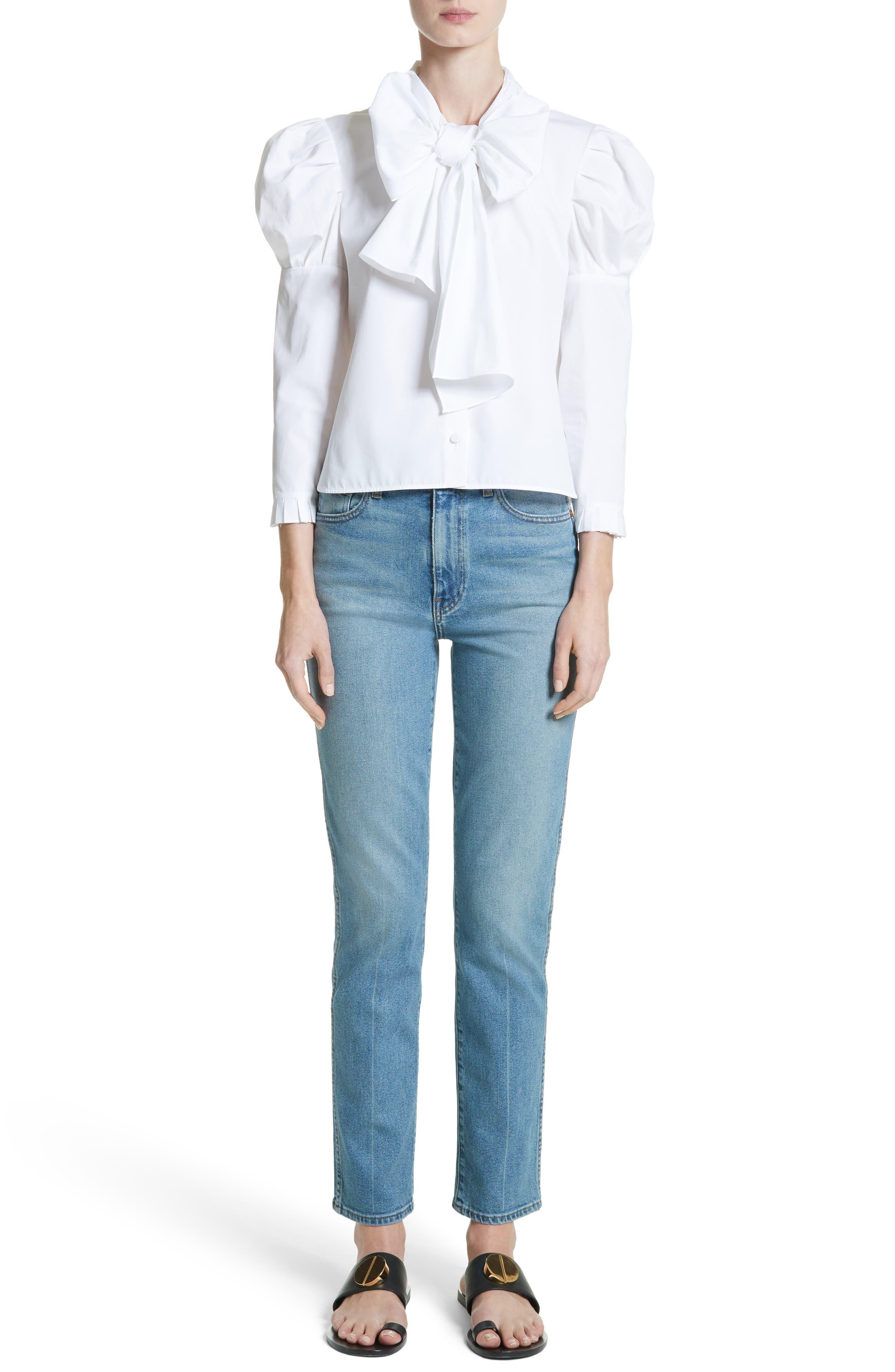 Victoria Straight Leg Jeans,                             Alternate thumbnail 8, color,                             Medium Crease