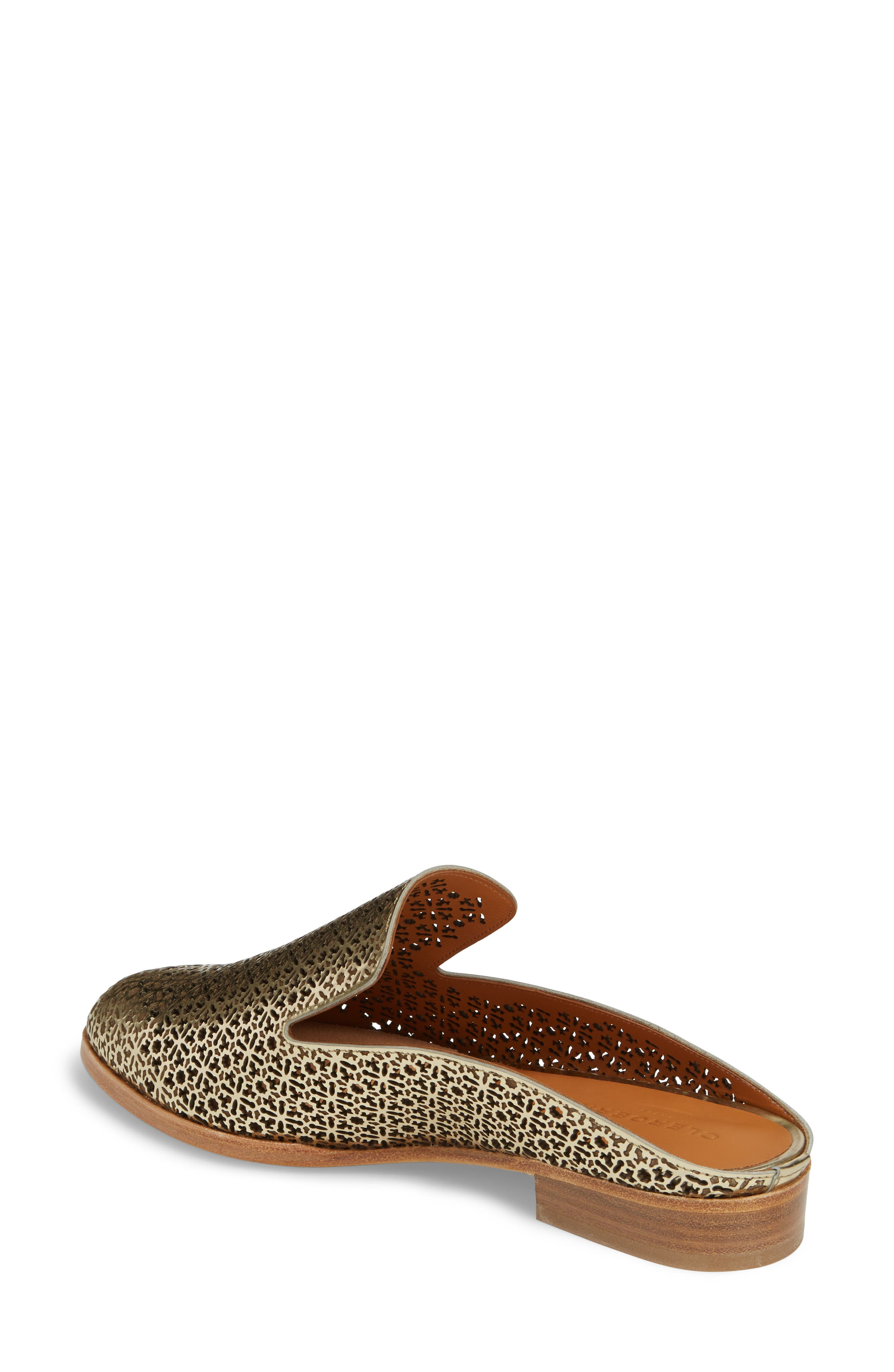 Asier Perforated Loafer Mule,                             Alternate thumbnail 2, color,                             Platino