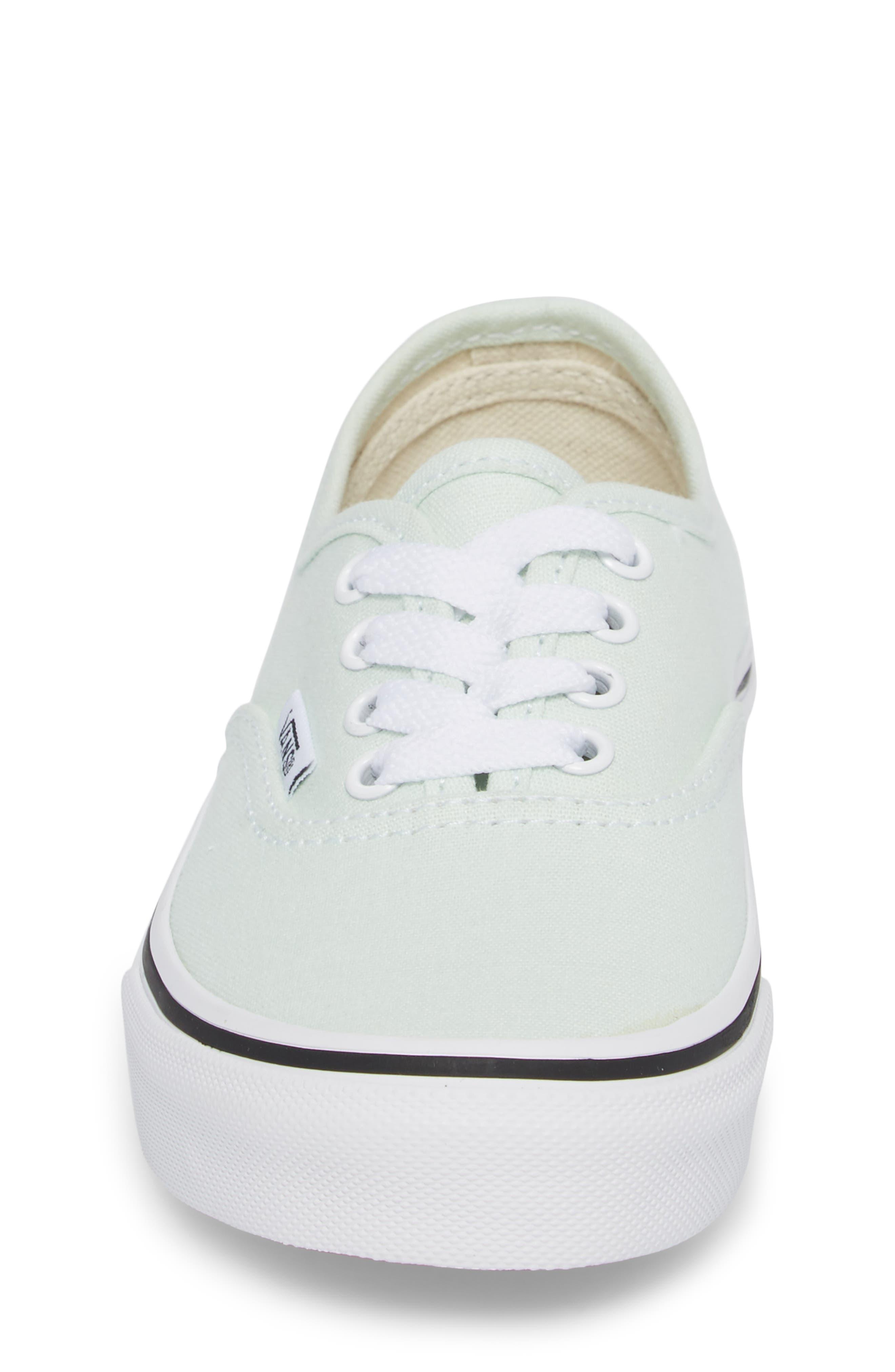 Authentic Sneaker,                             Alternate thumbnail 4, color,                             Aqua Glass/ True White