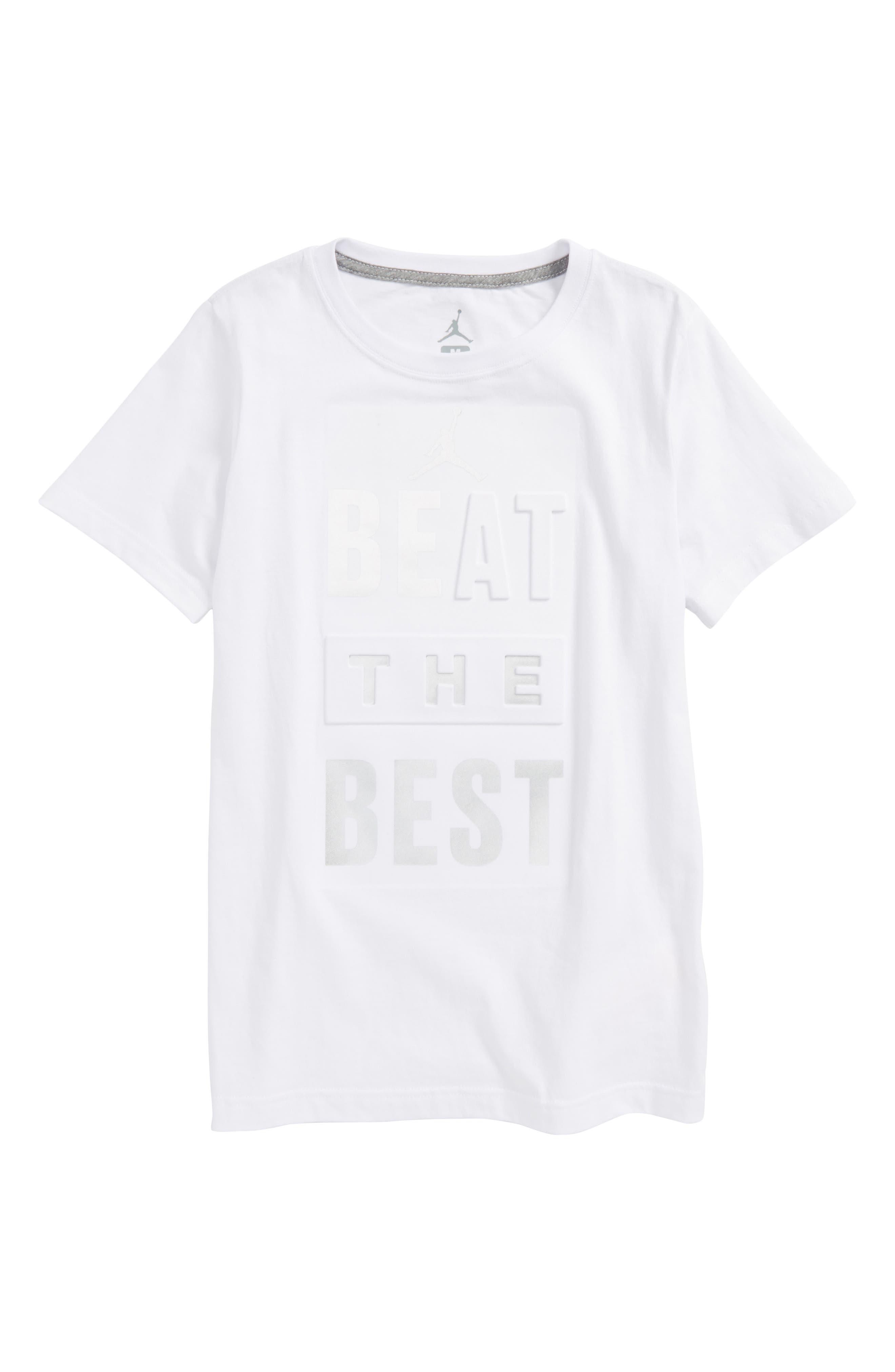 Jordan Beat the Best Graphic T-Shirt,                             Main thumbnail 1, color,                             White
