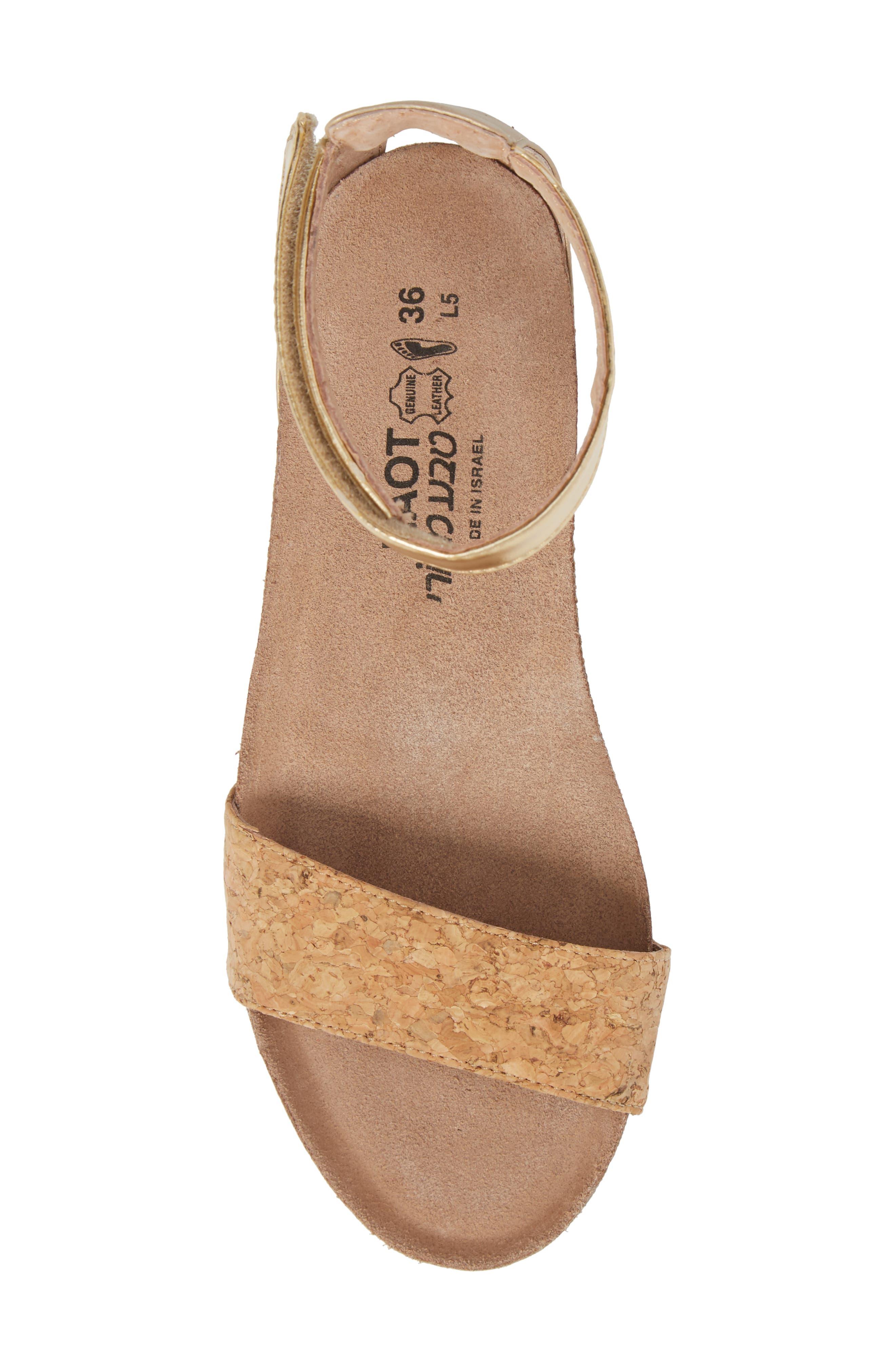 'Pixie' Sandal,                             Alternate thumbnail 5, color,                             Cork Leather