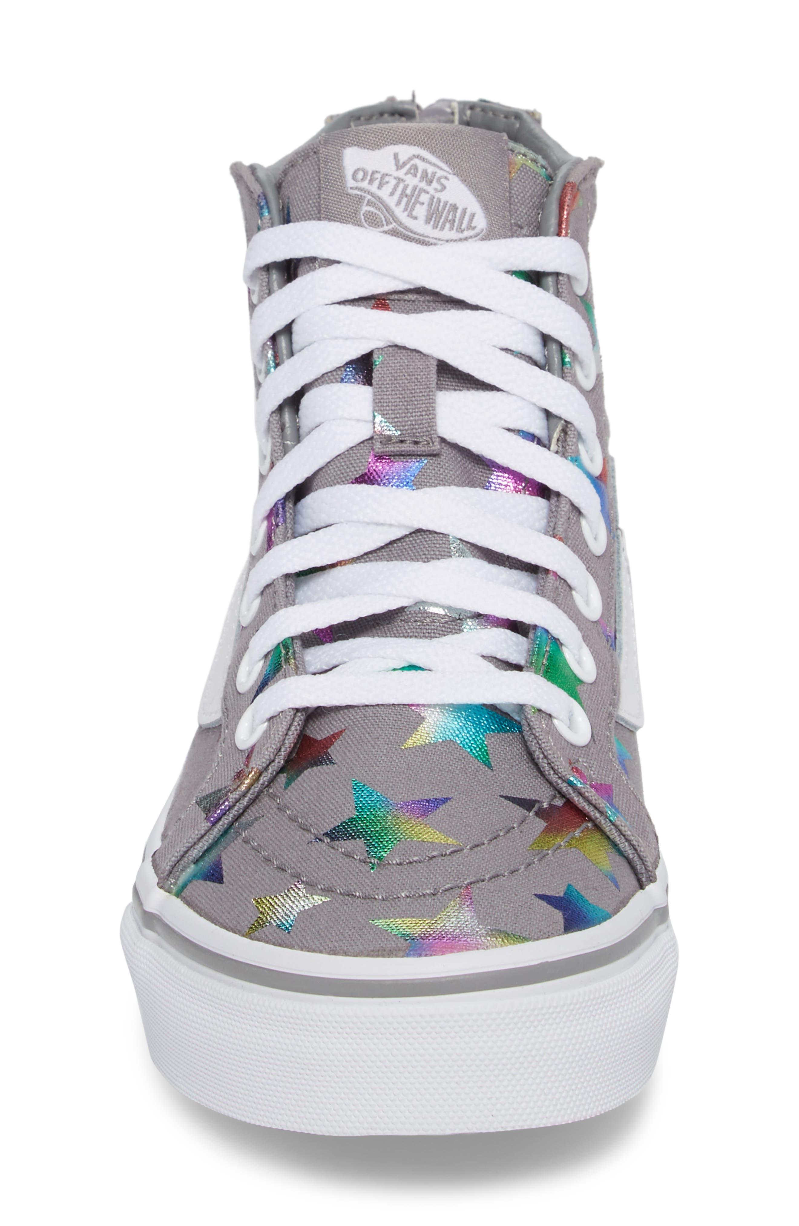 Alternate Image 4  - Vans Sk8-Hi Zip Star Print High Top Sneaker (Baby, Walker, Toddler, Little Kid & Big Kid)