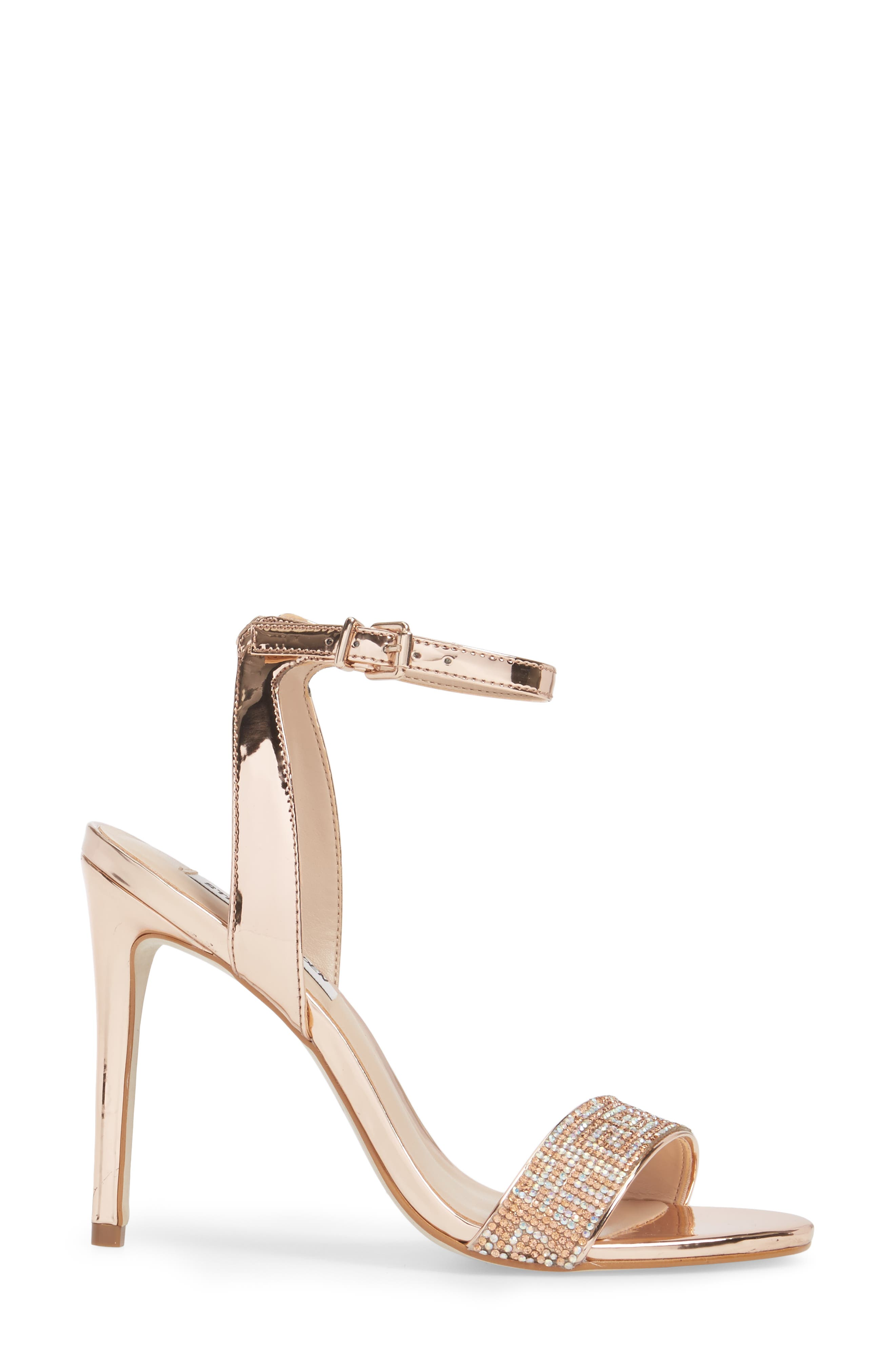 Leona Sandal,                             Alternate thumbnail 3, color,                             Rose Gold Leather