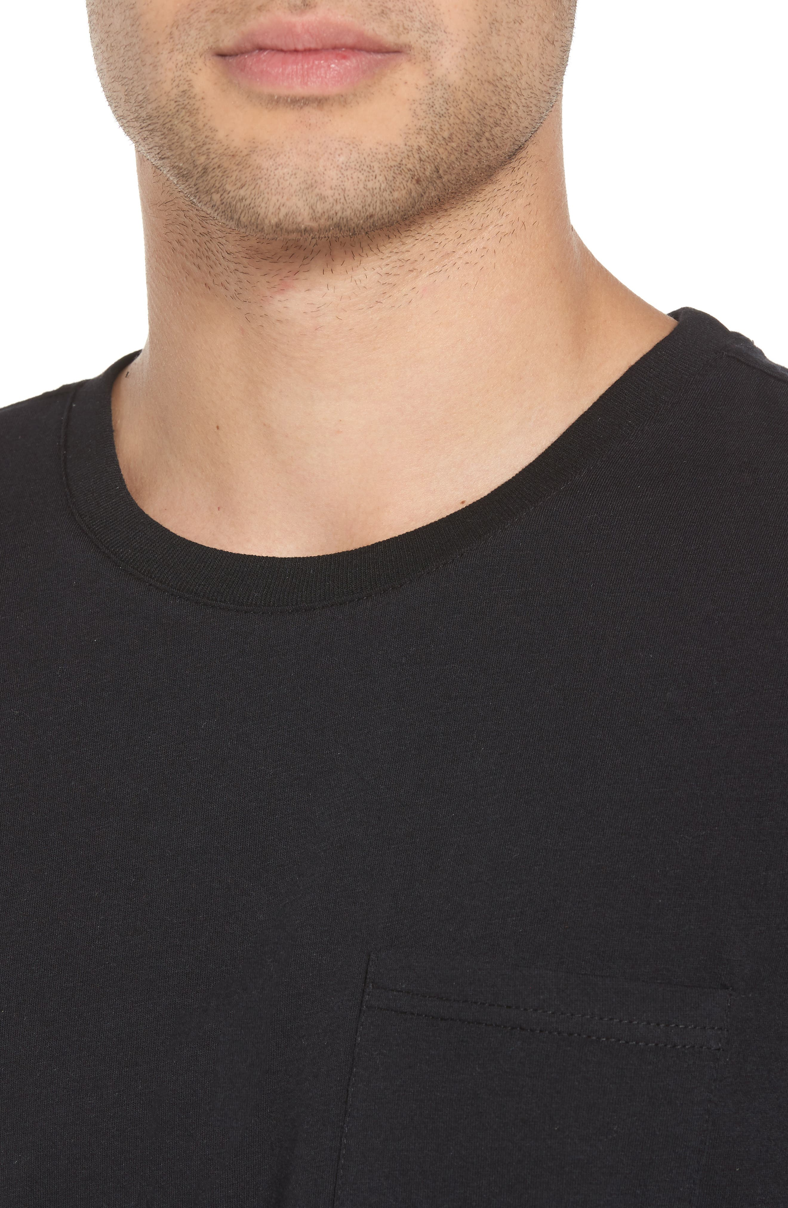 Alternate Image 4  - The Rail Contrast Mesh Layered T-Shirt