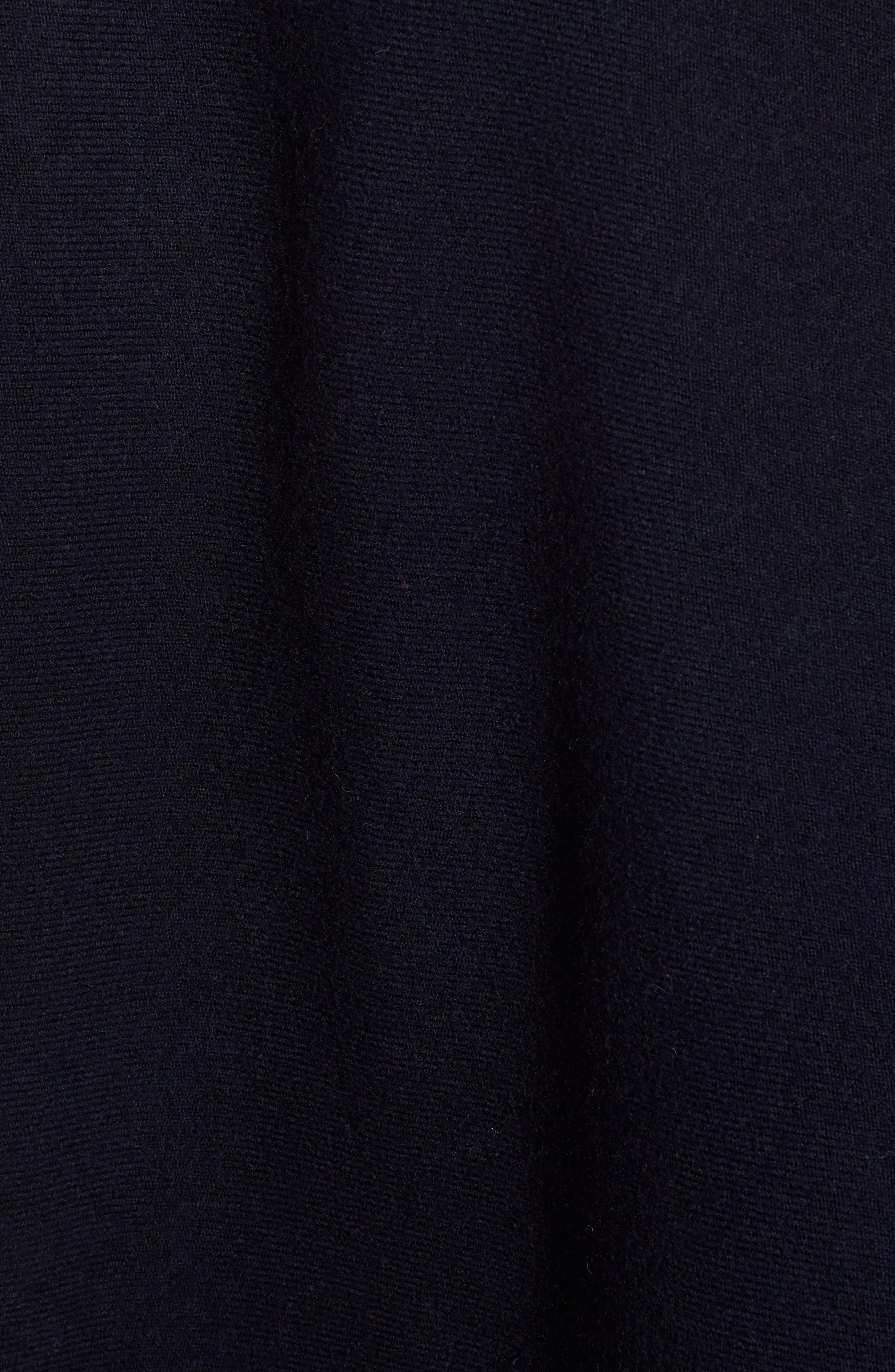 Crop Reversible Merino Wool Cape,                             Alternate thumbnail 5, color,                             Navy