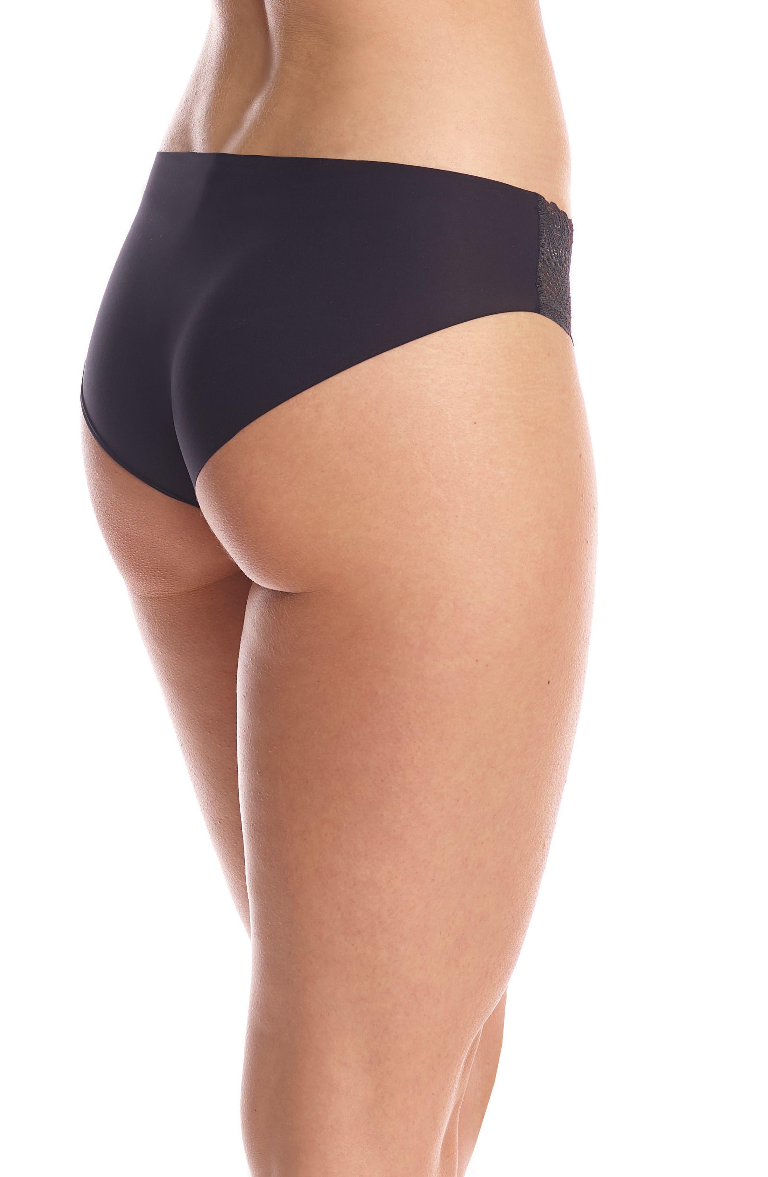 Perfect Stretch Lace Bikini,                             Alternate thumbnail 2, color,                             Black
