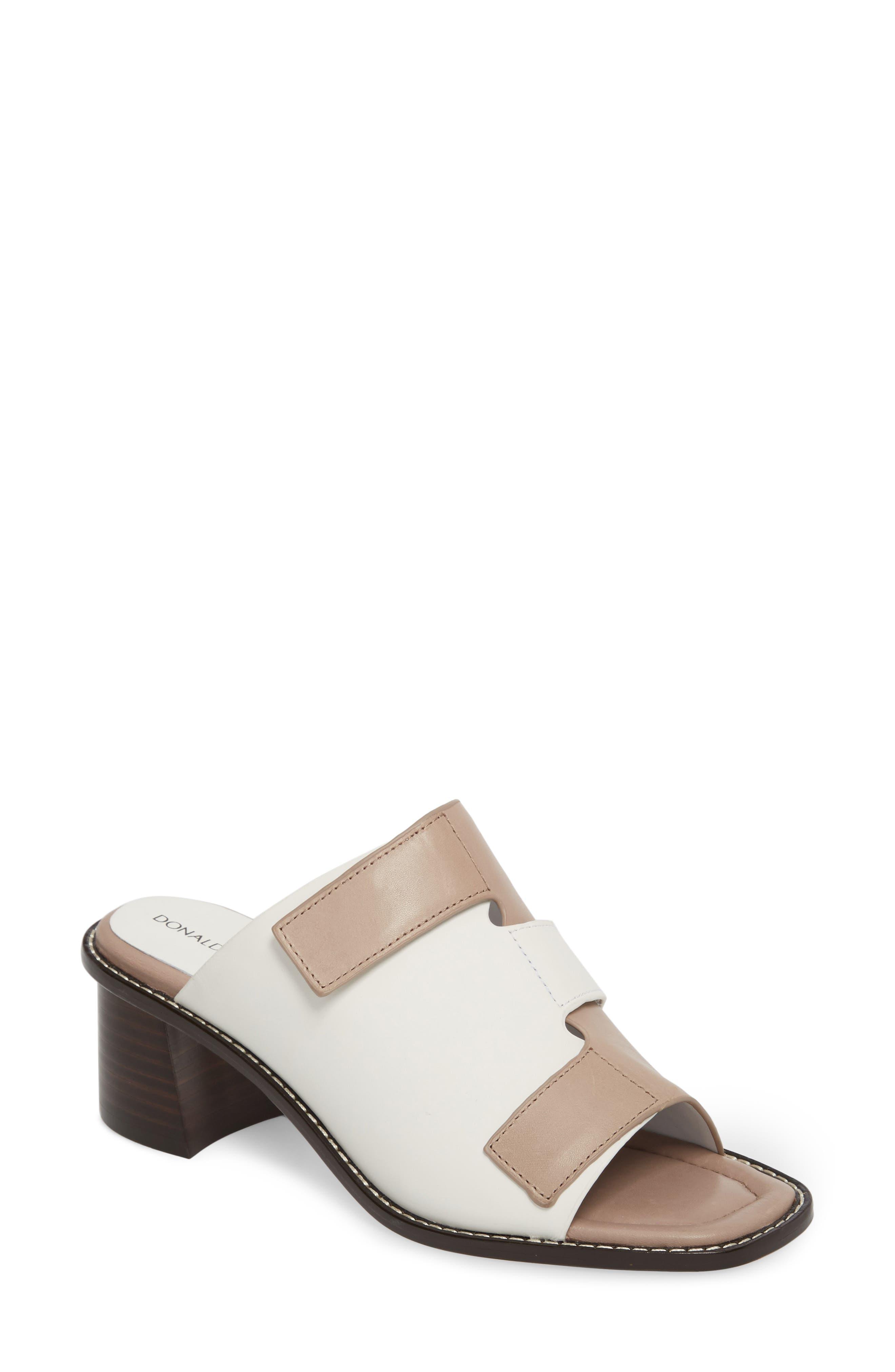 Amalia Block Heel Sandal,                         Main,                         color, Bone Leather