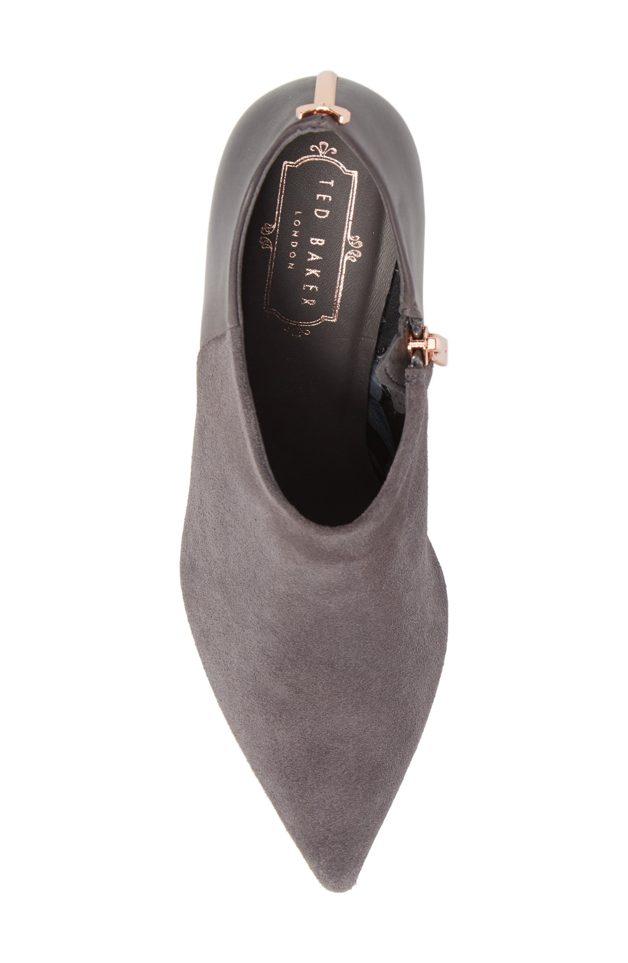 Akasher Bootie,                             Alternate thumbnail 5, color,                             Grey Suede