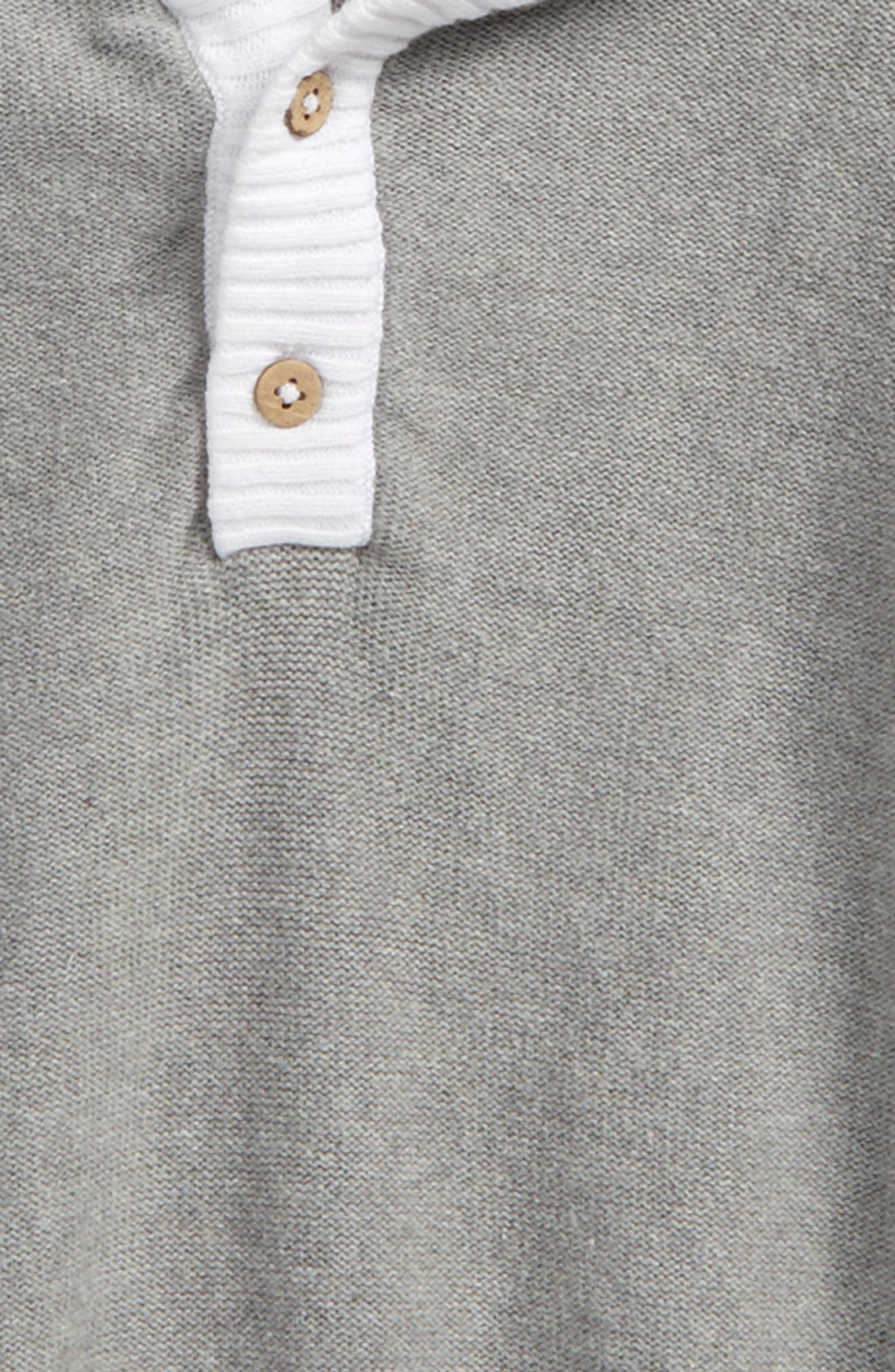 Alternate Image 2  - Burt's Bees Baby Organic Cotton Knit Hoodie (Toddler Boys & Little Boys)
