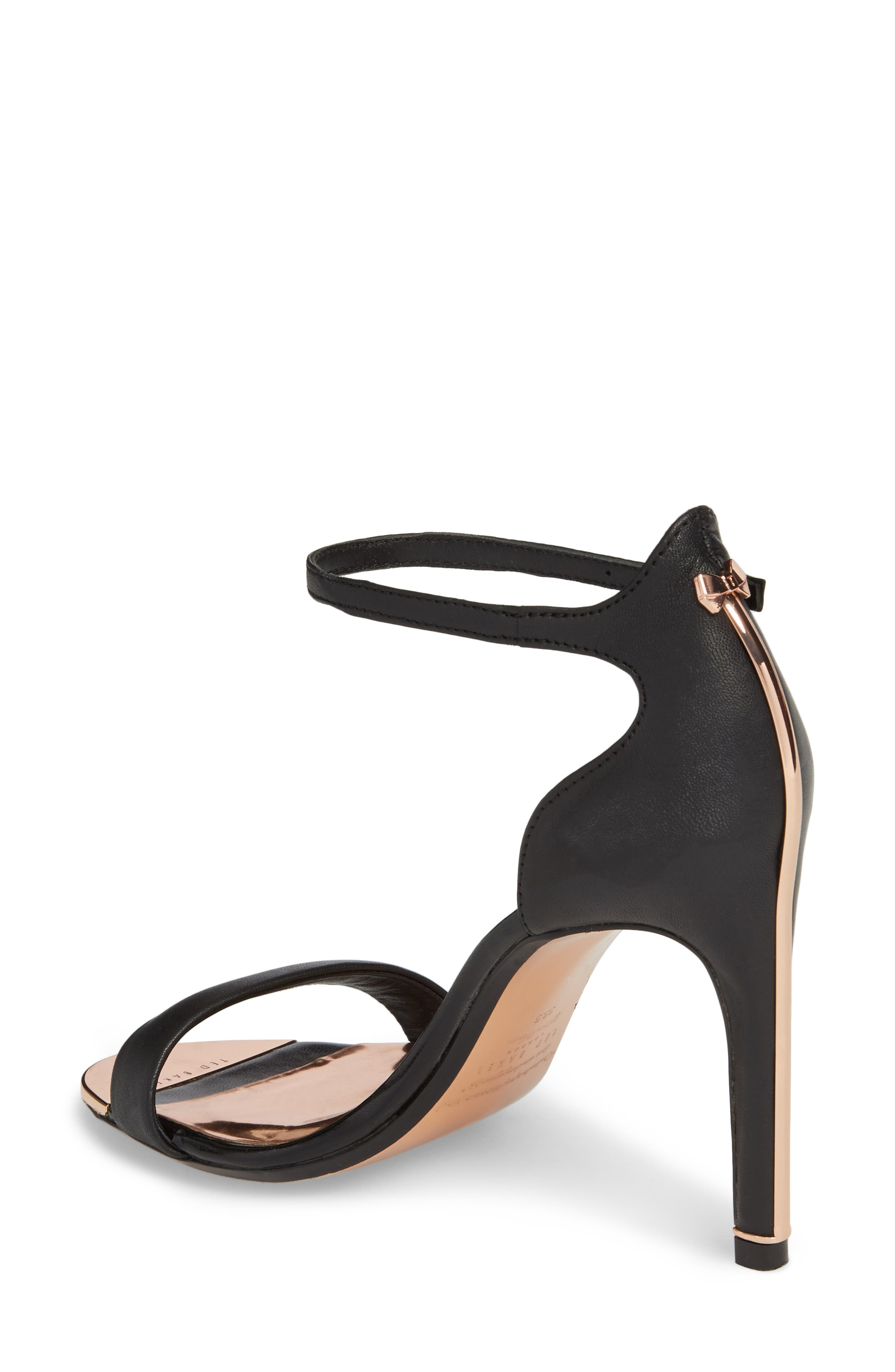 Sharlot Ankle Strap Sandal,                             Alternate thumbnail 2, color,                             Black Leather