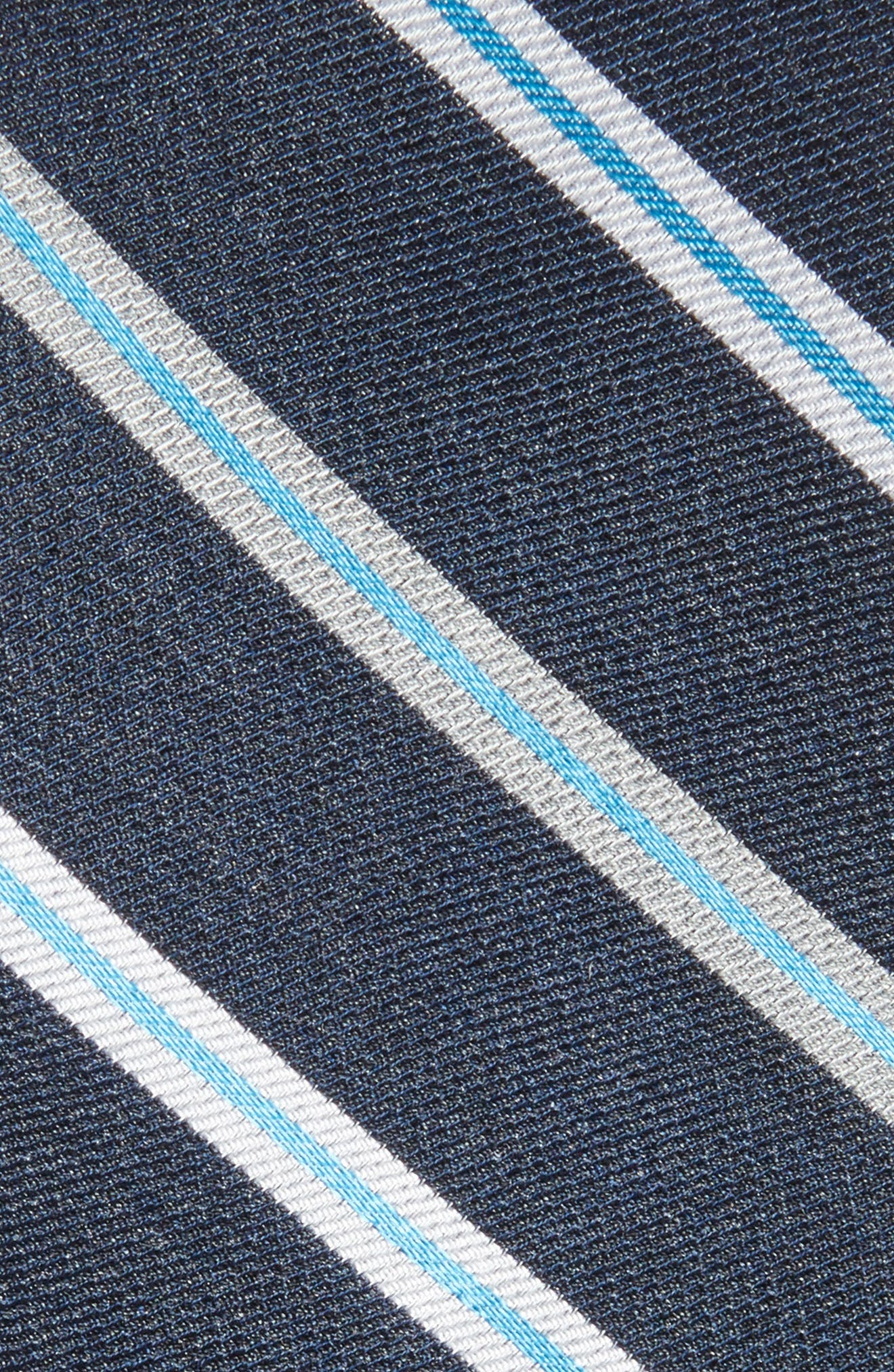 Crosby Stripe Silk Blend Tie,                             Alternate thumbnail 2, color,                             Dark Navy