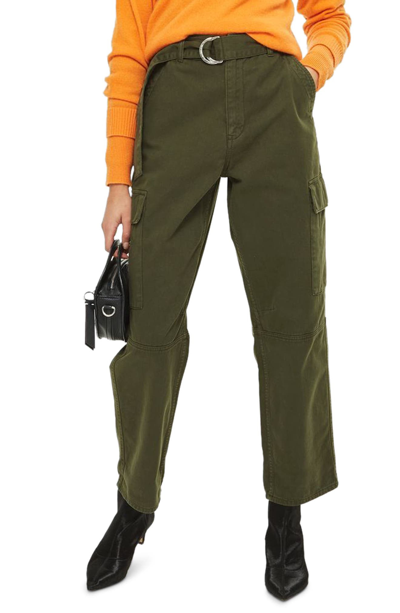 Combat Pocket Utility Trousers,                         Main,                         color, Olive