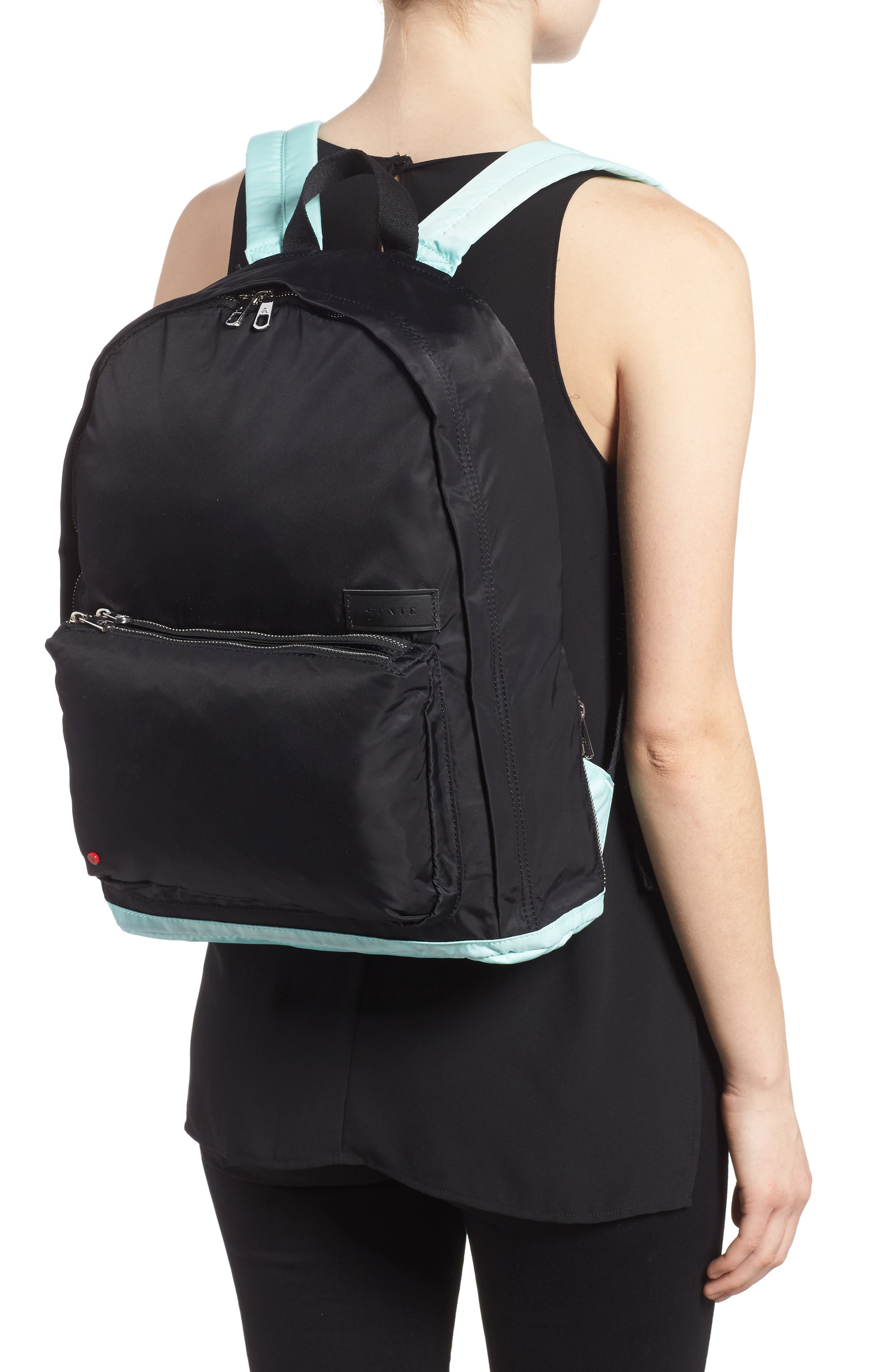 The Heights Adams Backpack,                             Alternate thumbnail 2, color,                             Black/ Mint