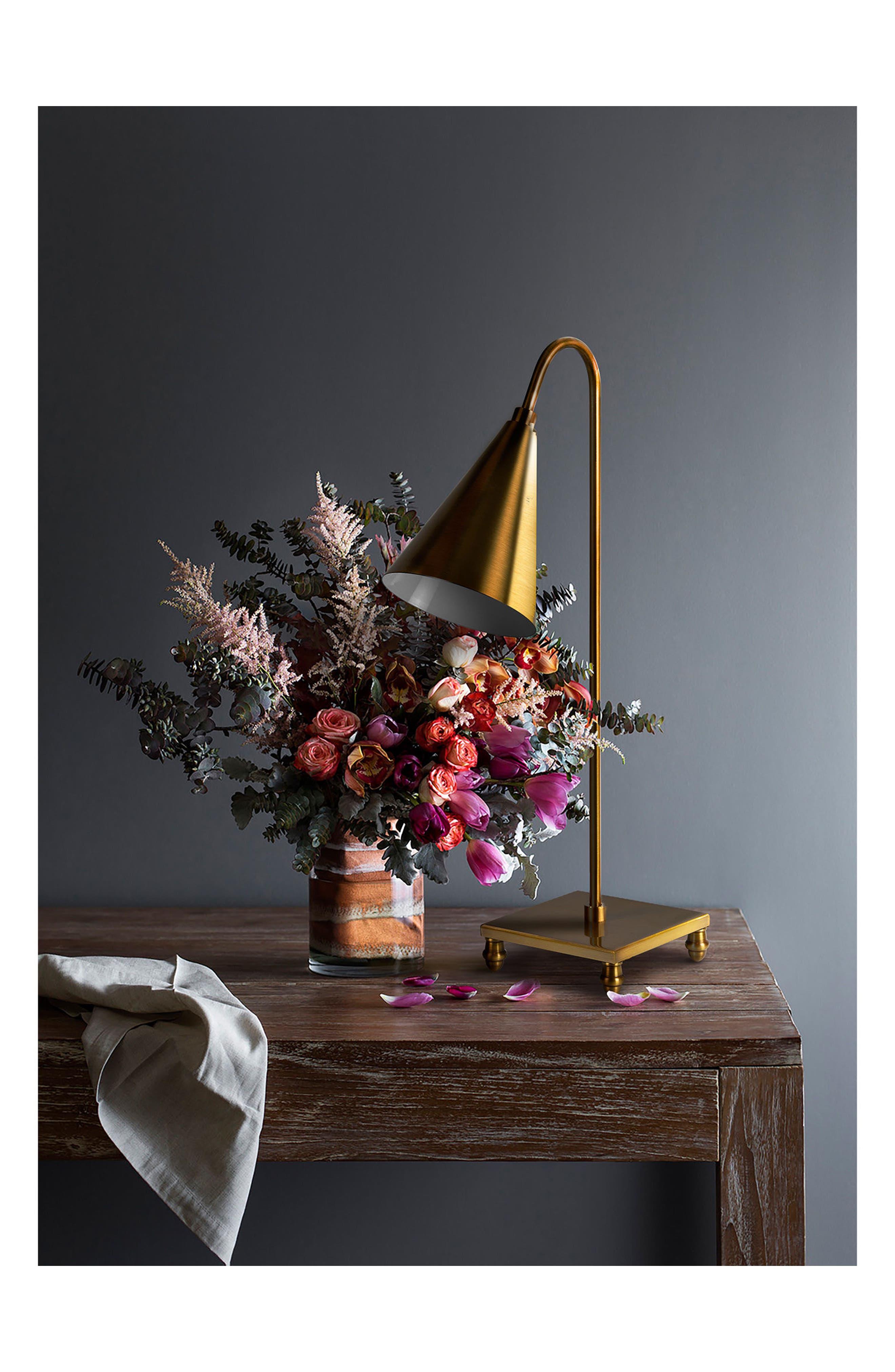 Dawn Table Lamp,                             Alternate thumbnail 2, color,                             Antique Gold