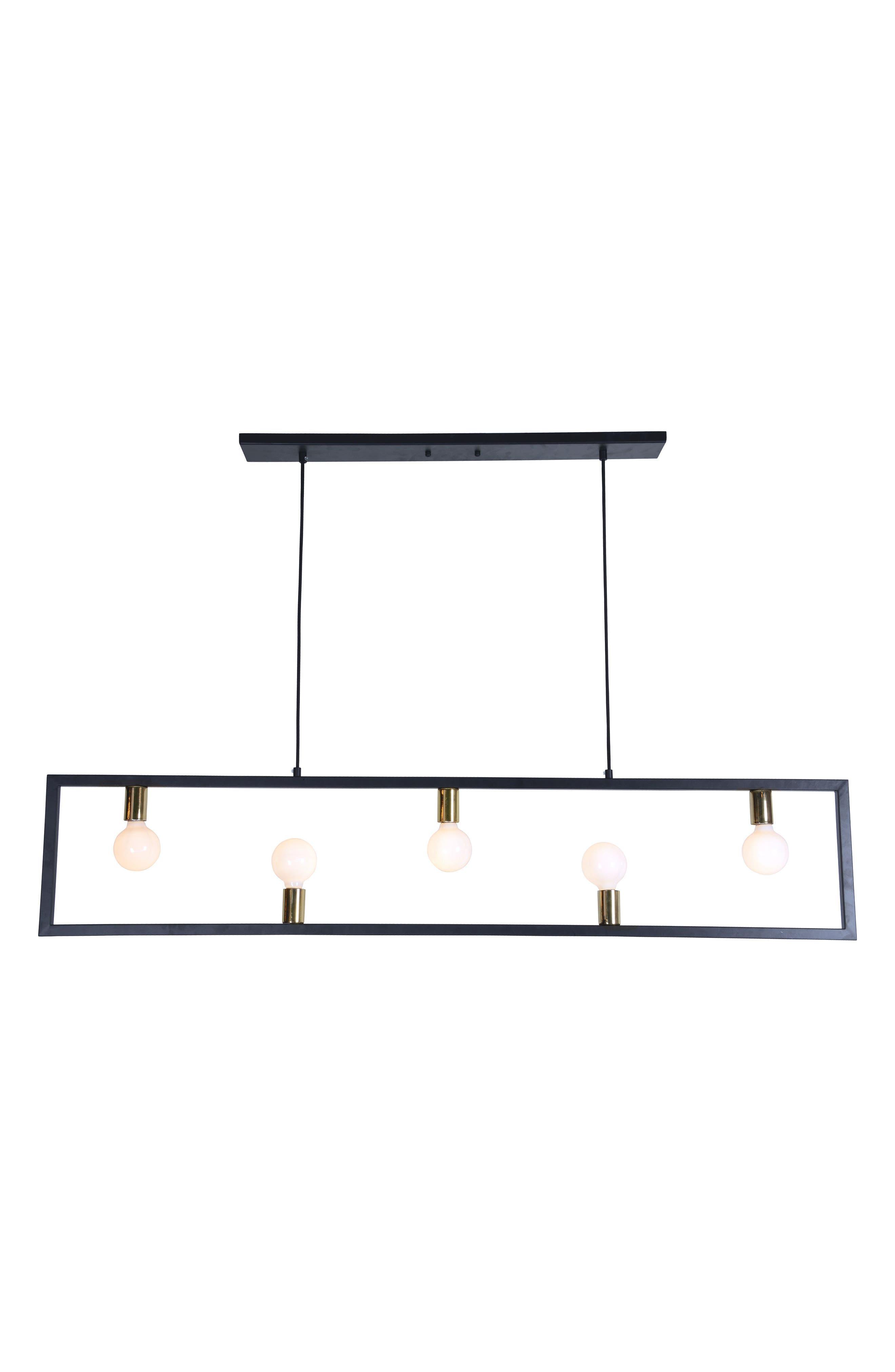 Vera Ceiling Light Fixture,                         Main,                         color, Matte Black/ Polished Brass