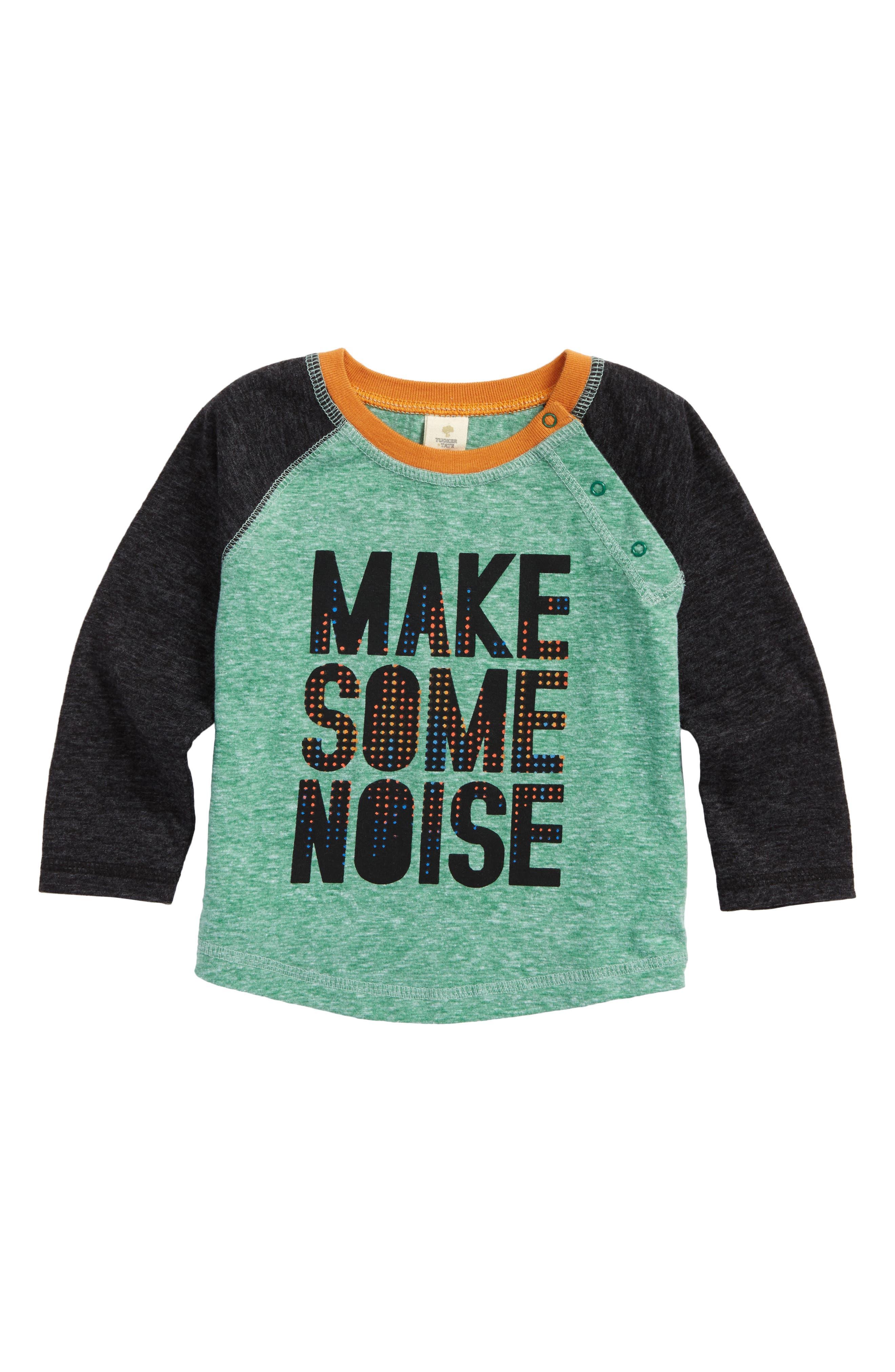 Graphic Baseball T-Shirt,                         Main,                         color, Green Genius Noise