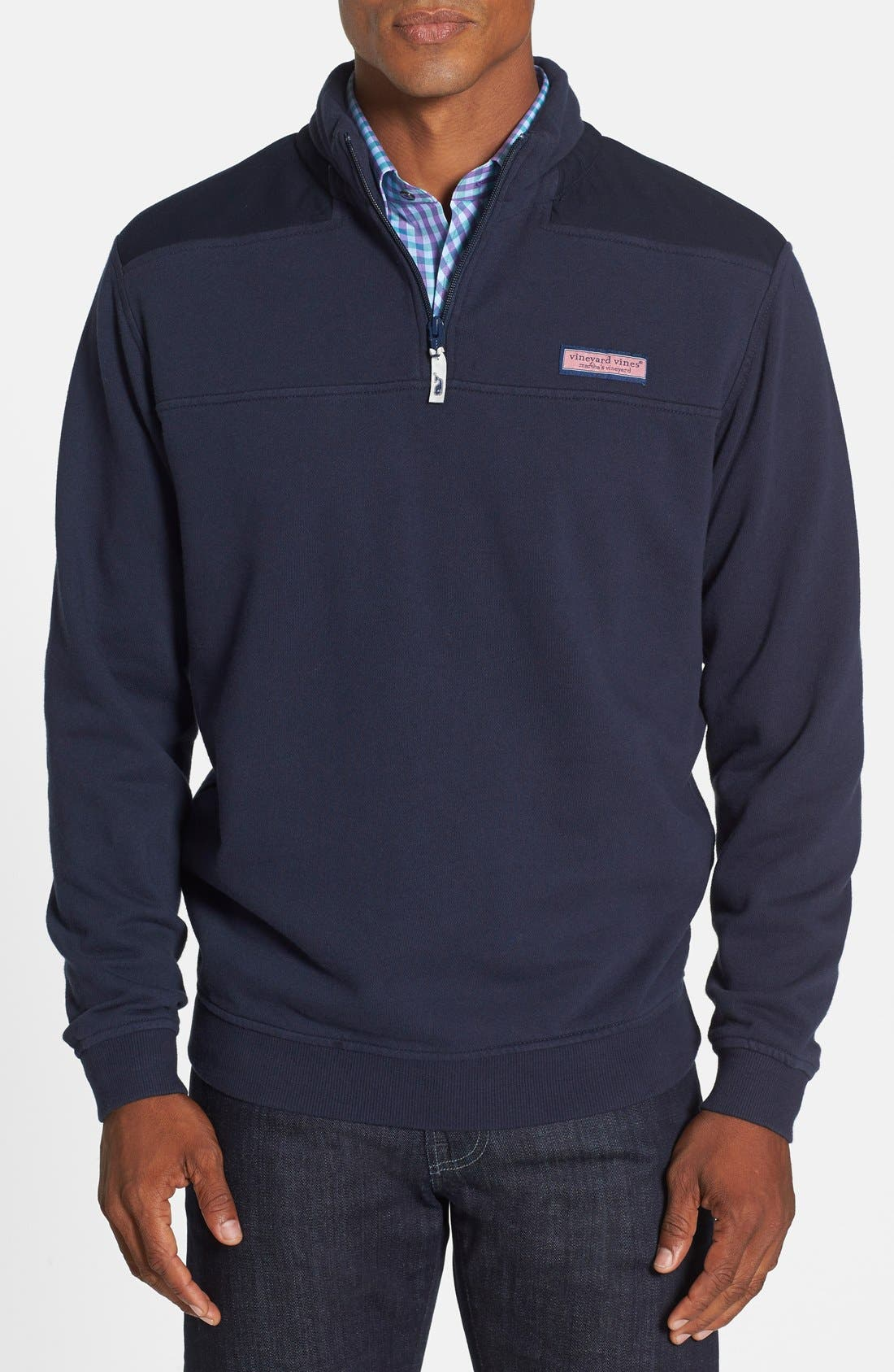 Alternate Image 1 Selected - vineyard vines Shep Quarter Zip Pullover Sweatshirt