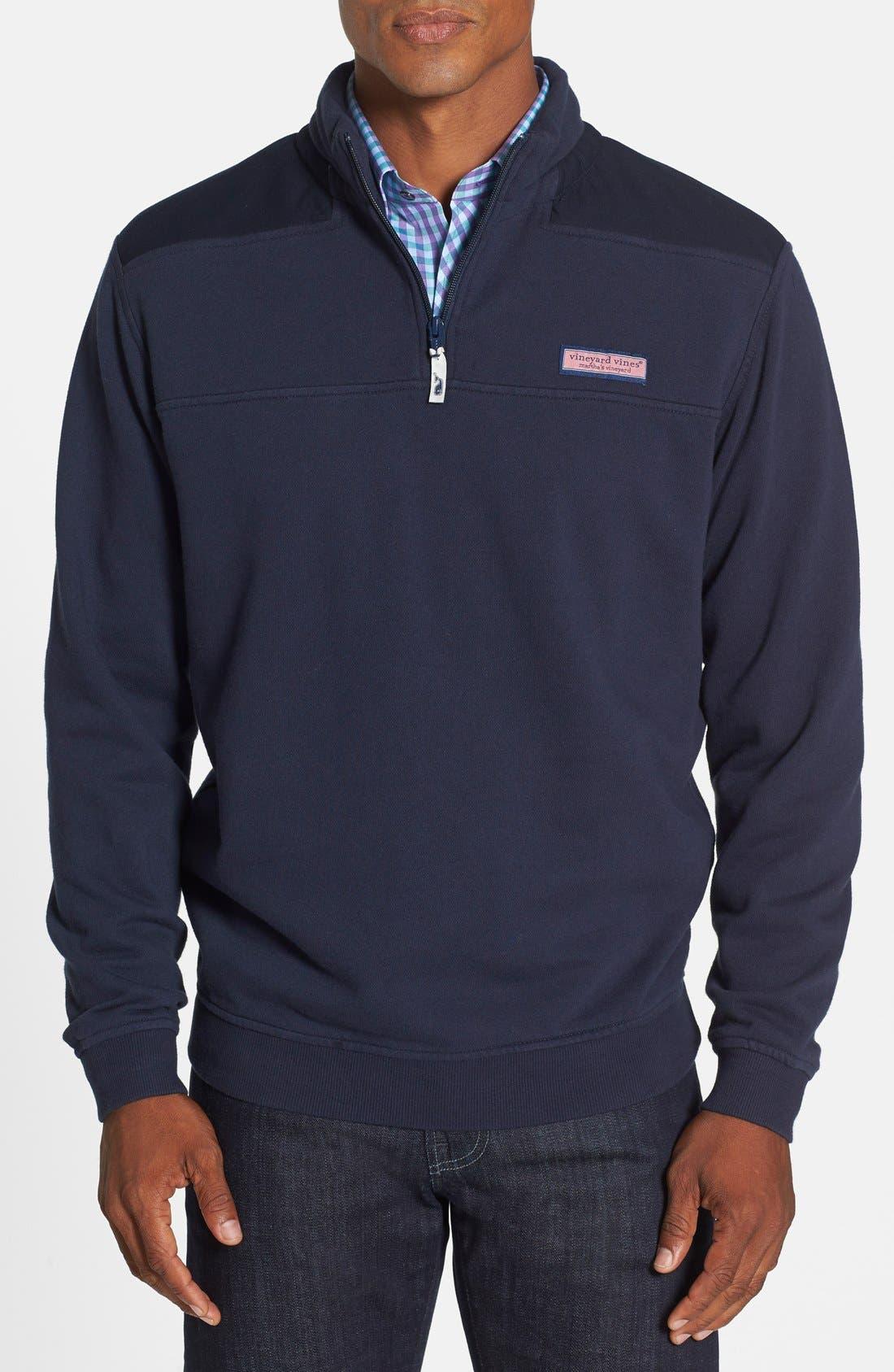 Shep Quarter Zip Pullover Sweatshirt,                         Main,                         color, Vineyard Blue