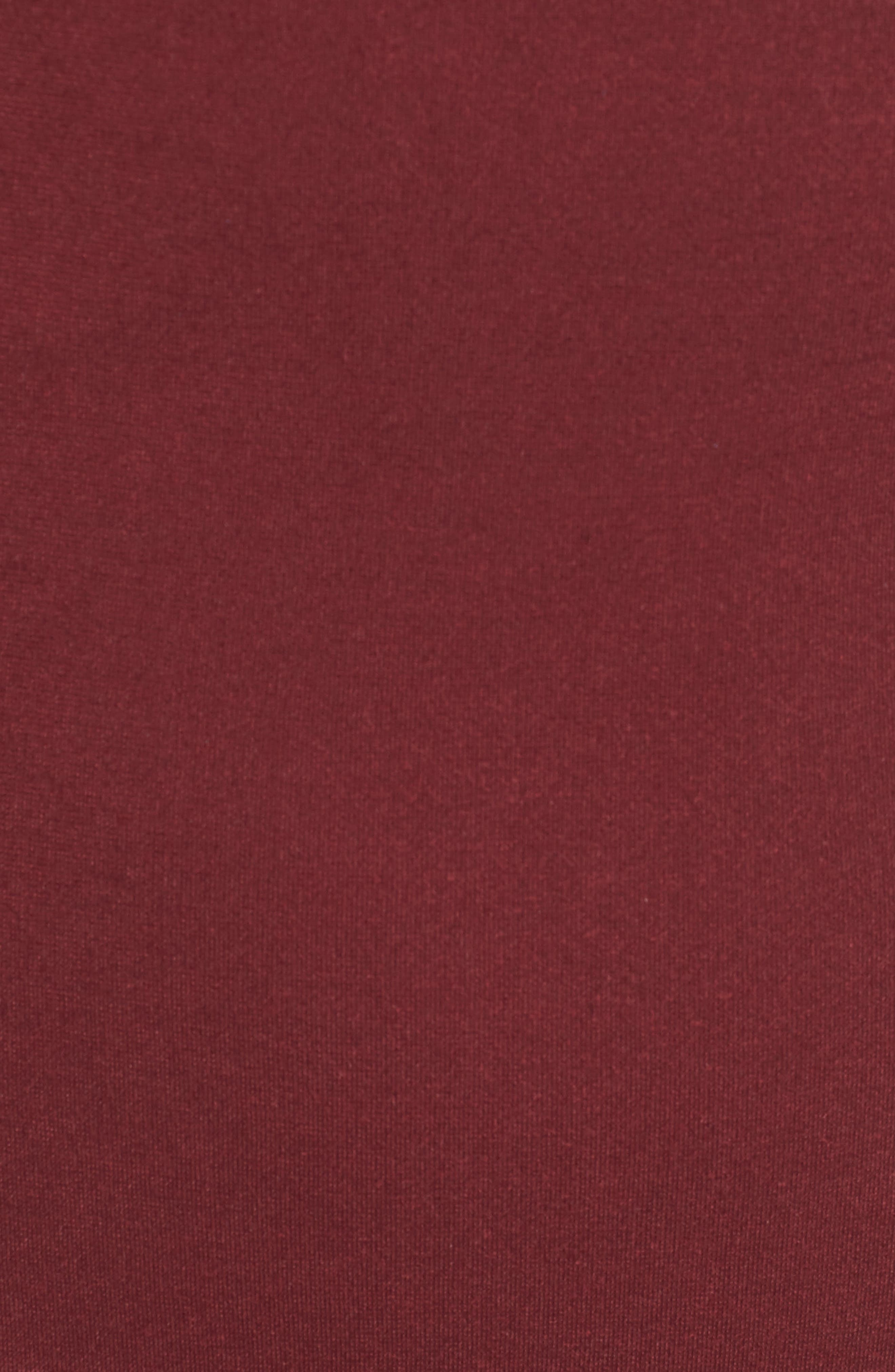 Bishop + Young Ponte Knit Sheath Dress,                             Alternate thumbnail 5, color,                             Burgundy