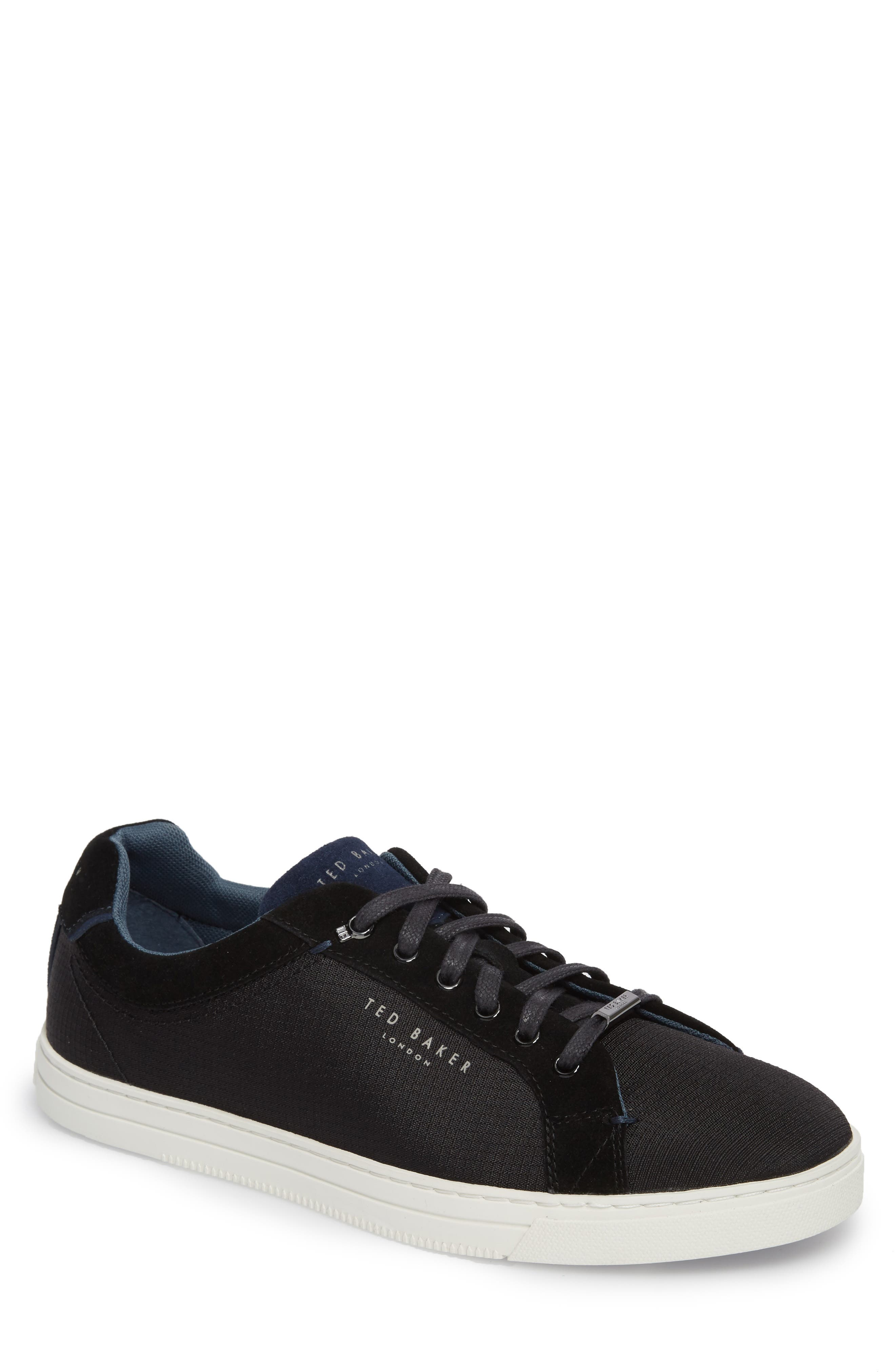 Klemes Sneaker,                             Main thumbnail 1, color,                             Black Textile
