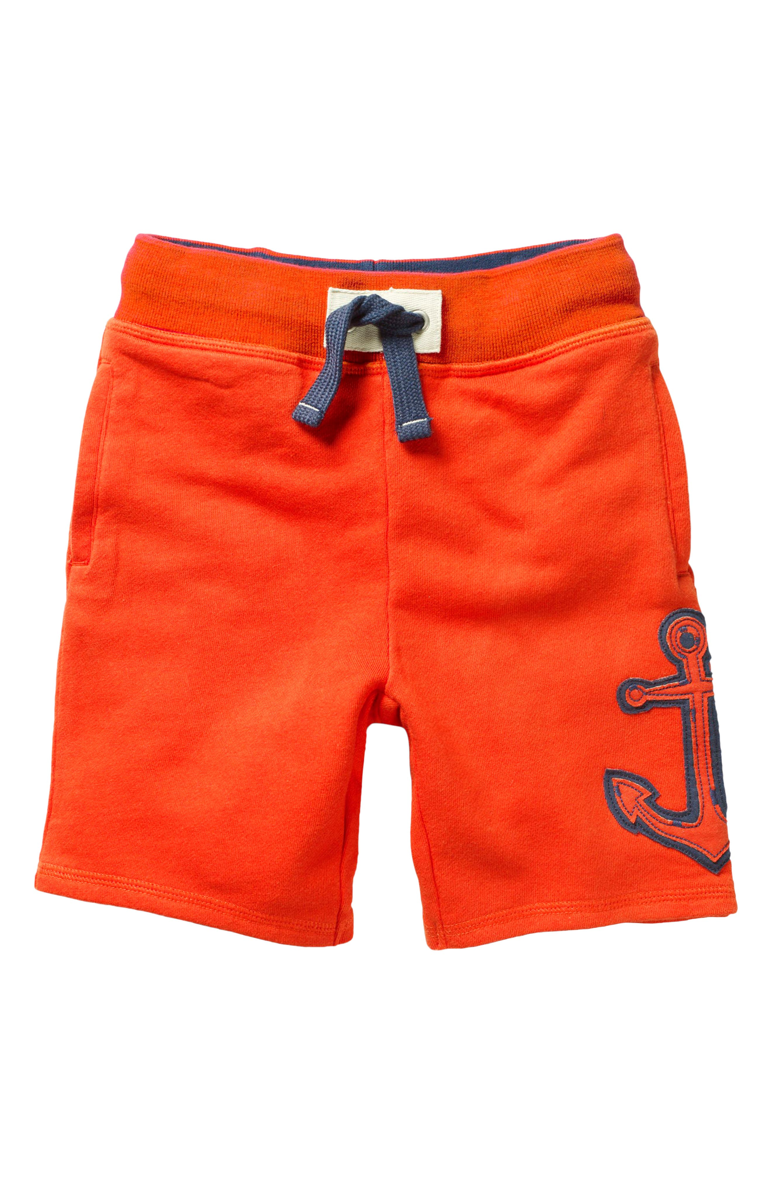 Appliqué Knit Shorts,                         Main,                         color, Ziggy Red Anchor