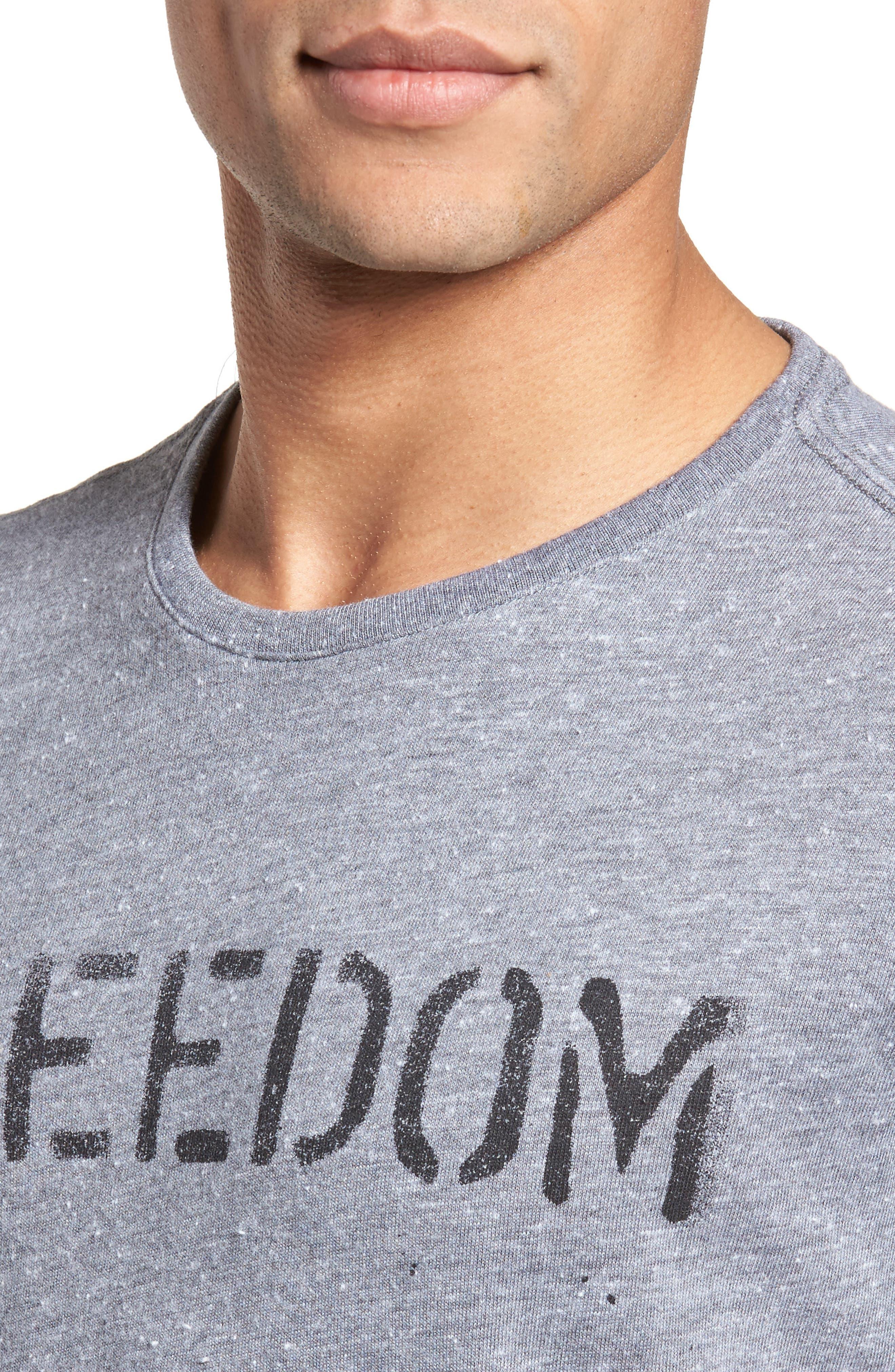 Freedom Graphic T-Shirt,                             Alternate thumbnail 4, color,                             Hematite