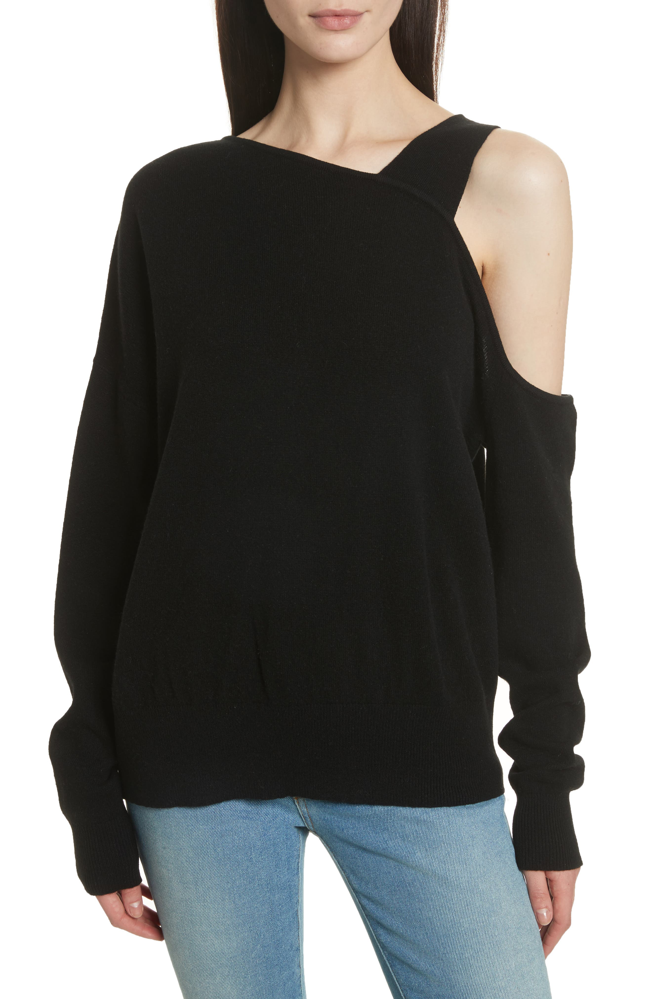 Elizabeth and James Hearst Cold Shoulder Merino Wool & Cashmere Sweater