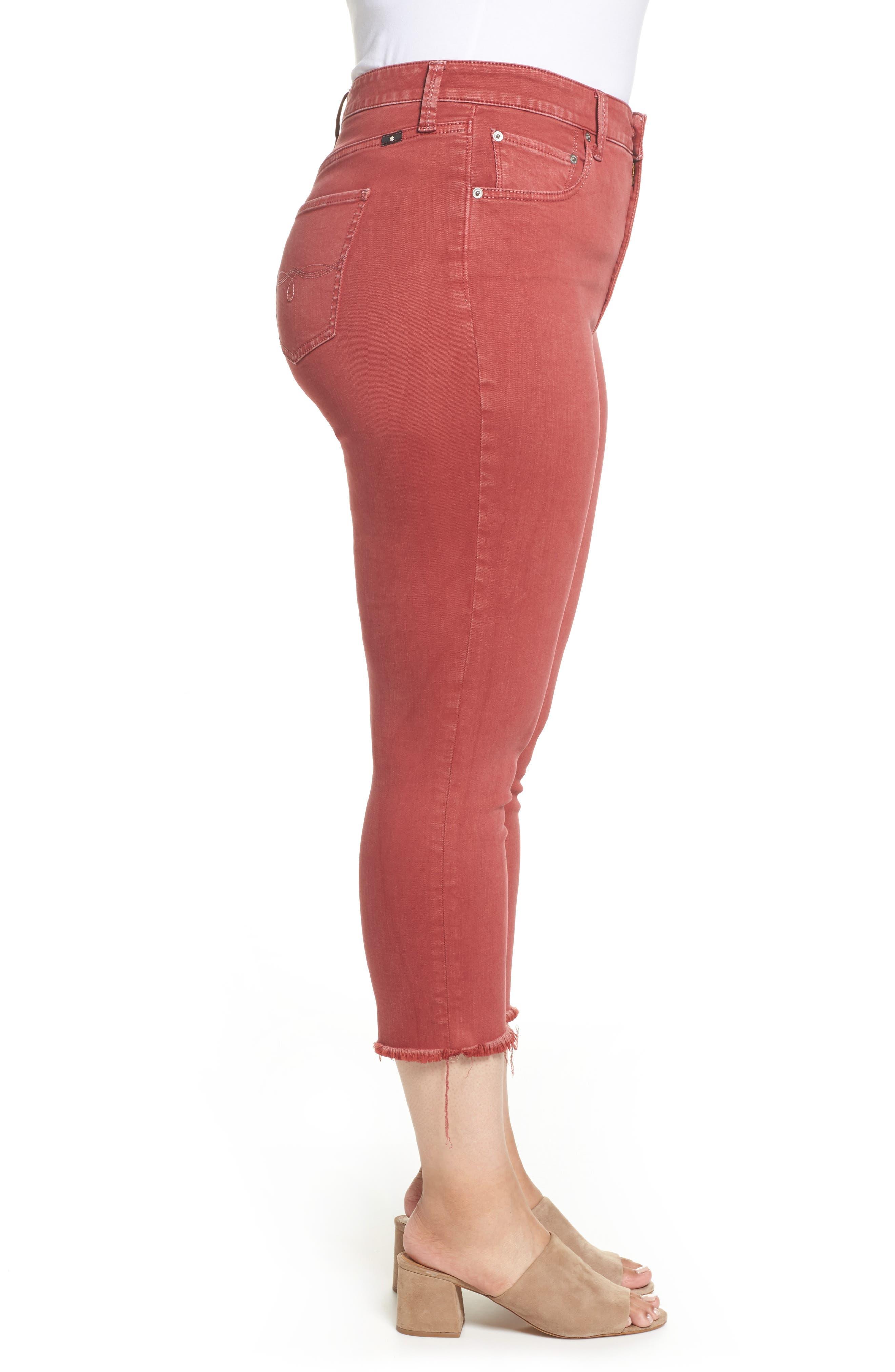 Emma Crop Jeans,                             Alternate thumbnail 3, color,                             La Cara