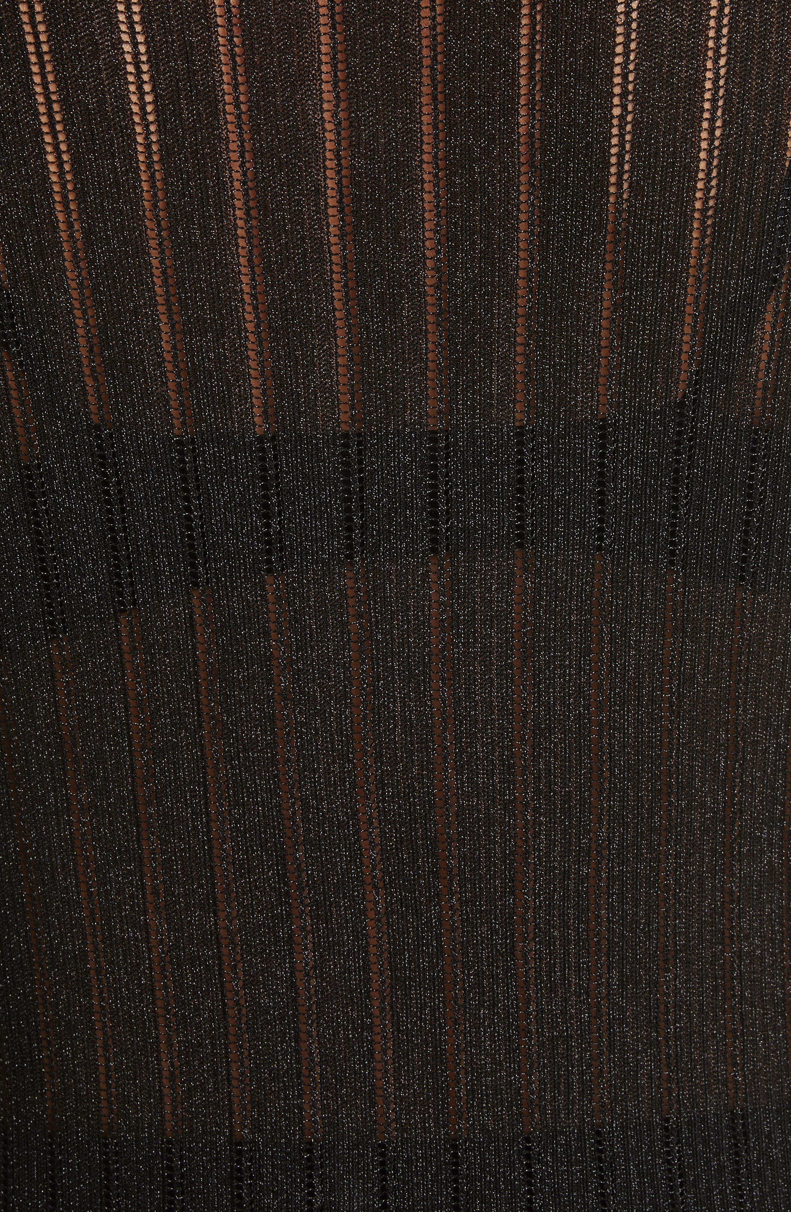 Skogkik Metallic Knit Top,                             Alternate thumbnail 5, color,                             Black