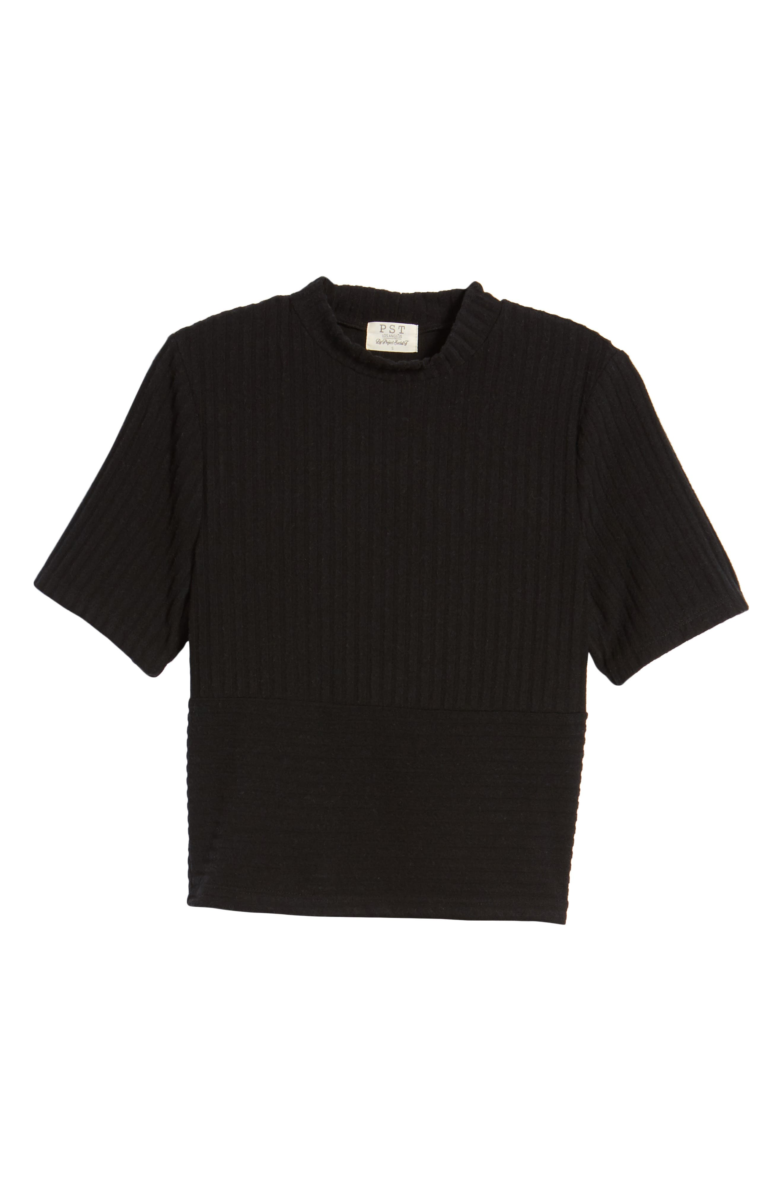 Alternate Image 6  - PST by Project Social T Mock Neck Ribbed Top