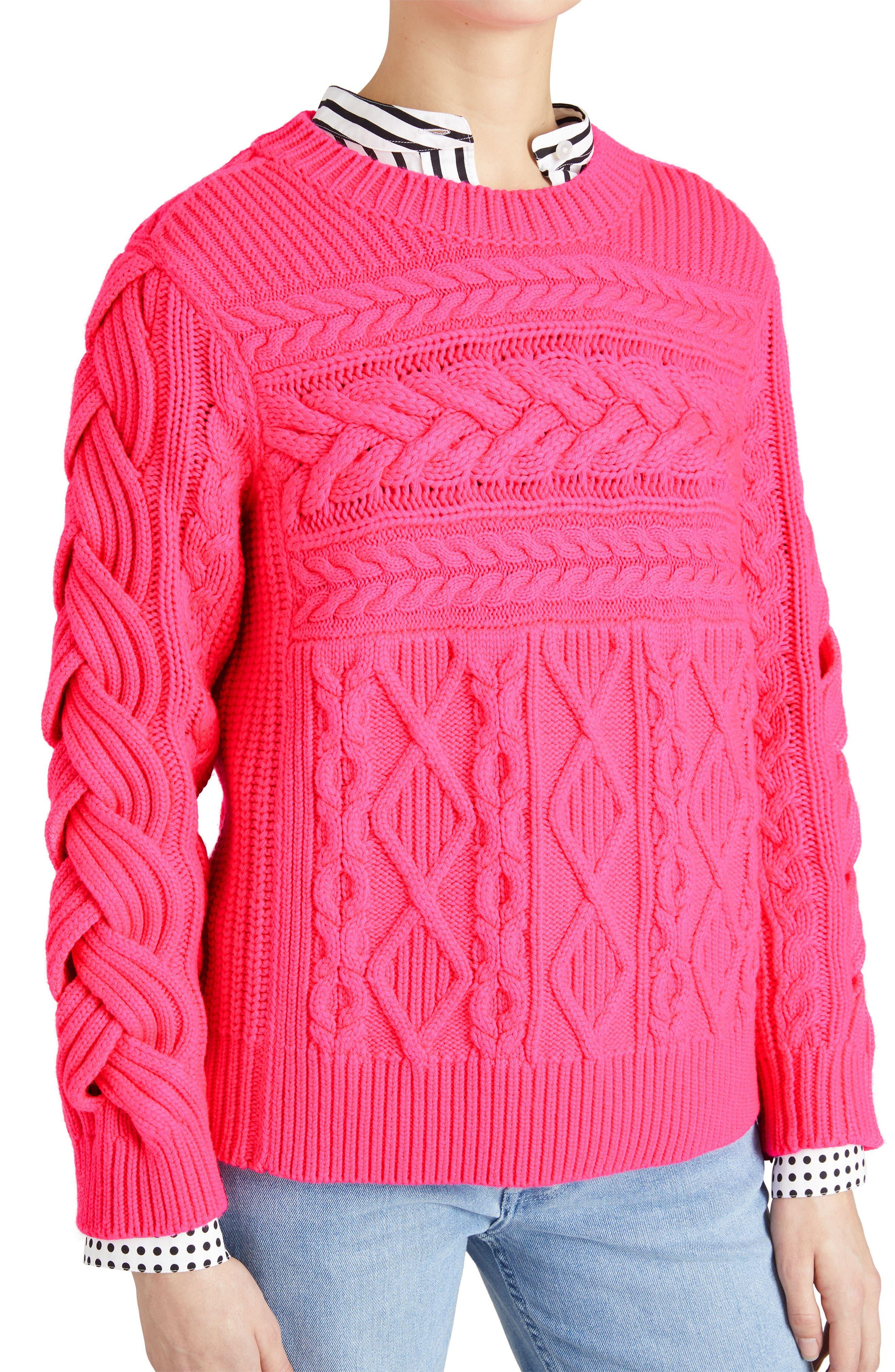 Burberry Tolman Aran Knit Sweater