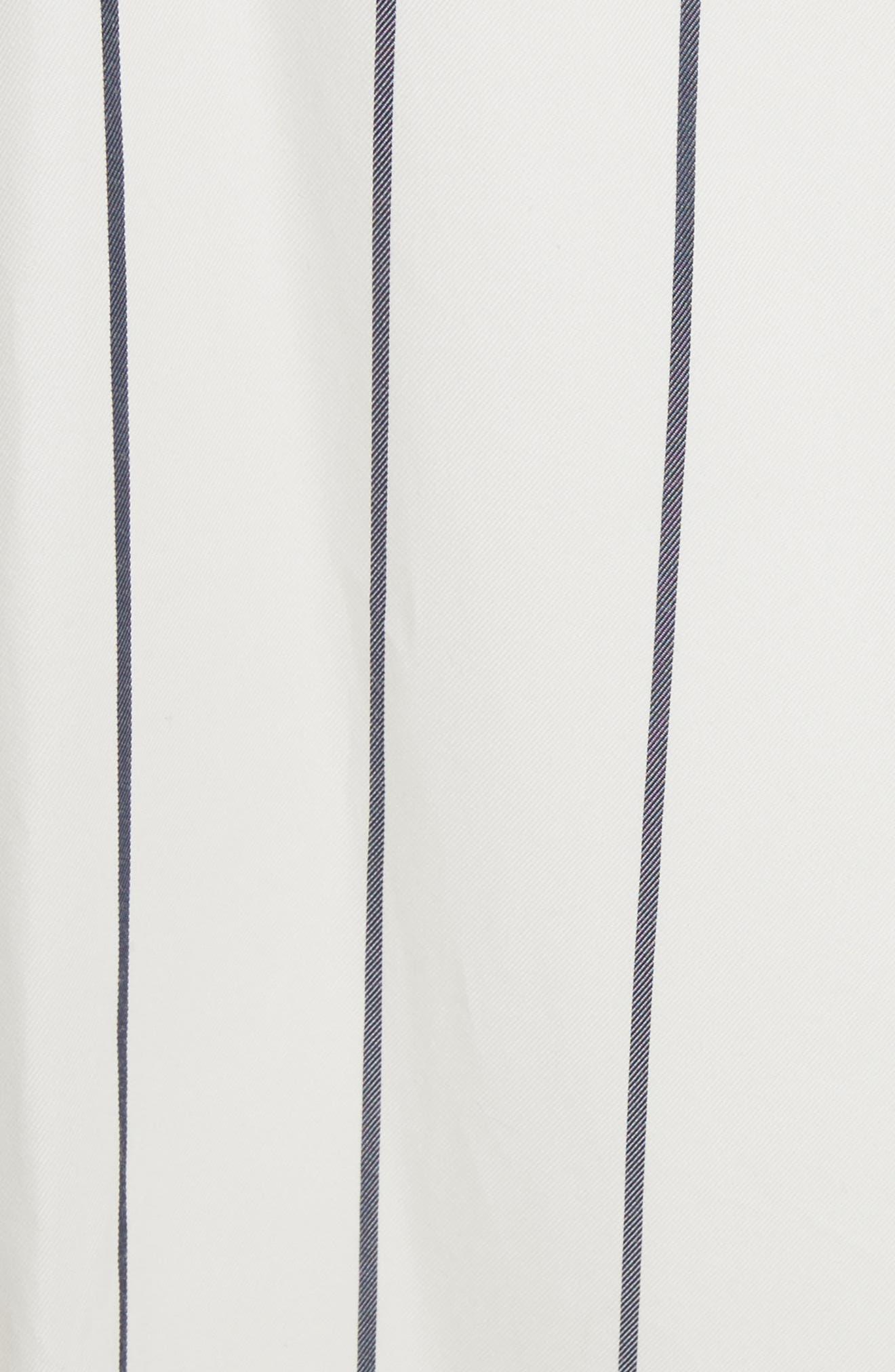 Mixed Stripe Asymmetrical Skirt,                             Alternate thumbnail 5, color,                             Ivory/ Black