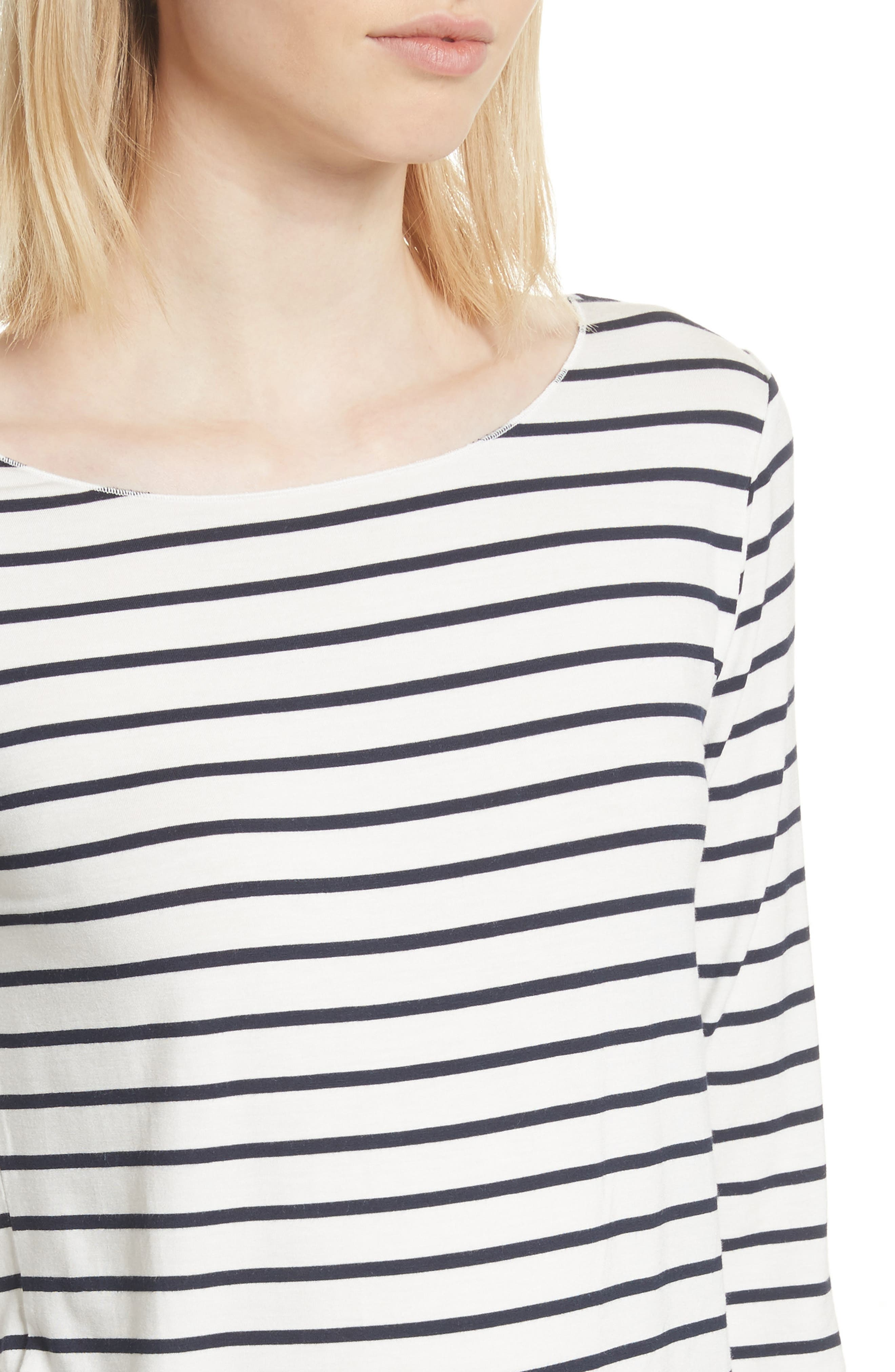 Alternate Image 4  - Majestic Filatures Stripe Boat Neck Shirt