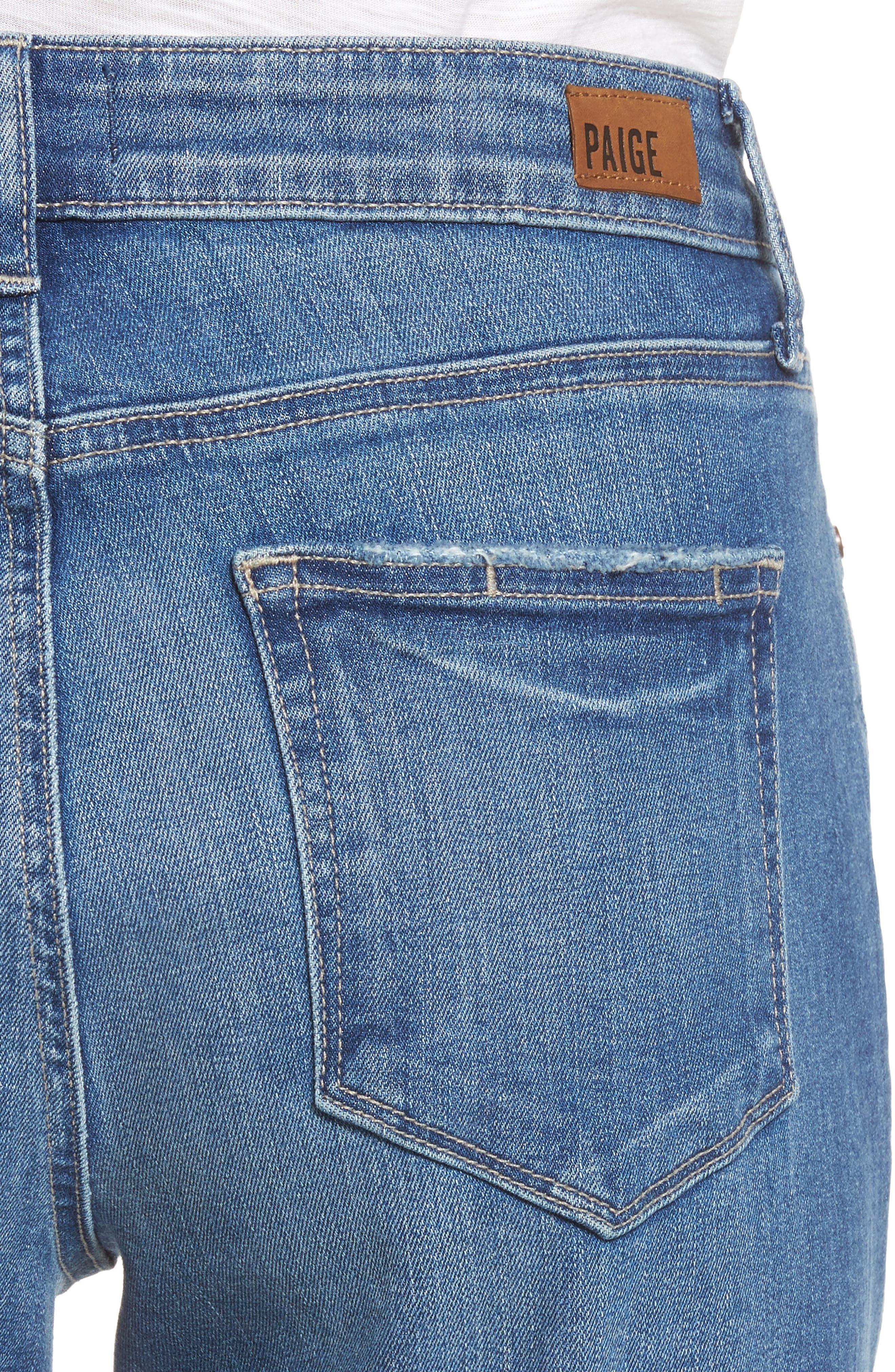 Jimmy Jimmy High Waist Crop Boyfriend Jeans,                             Alternate thumbnail 4, color,                             Ludlow Destructed