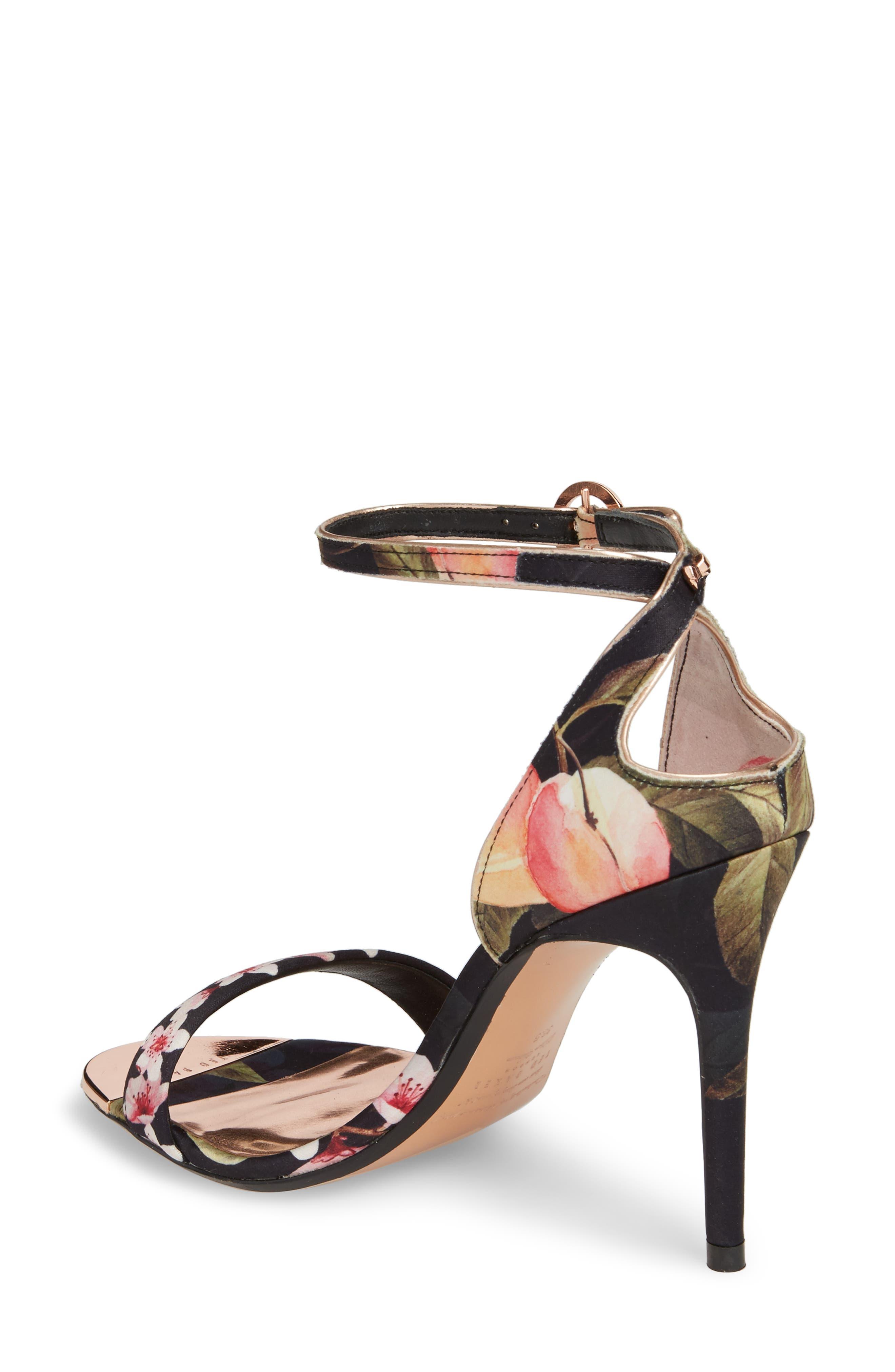 Mirobep Sandal,                             Alternate thumbnail 2, color,                             Peach Blossom Black Satin