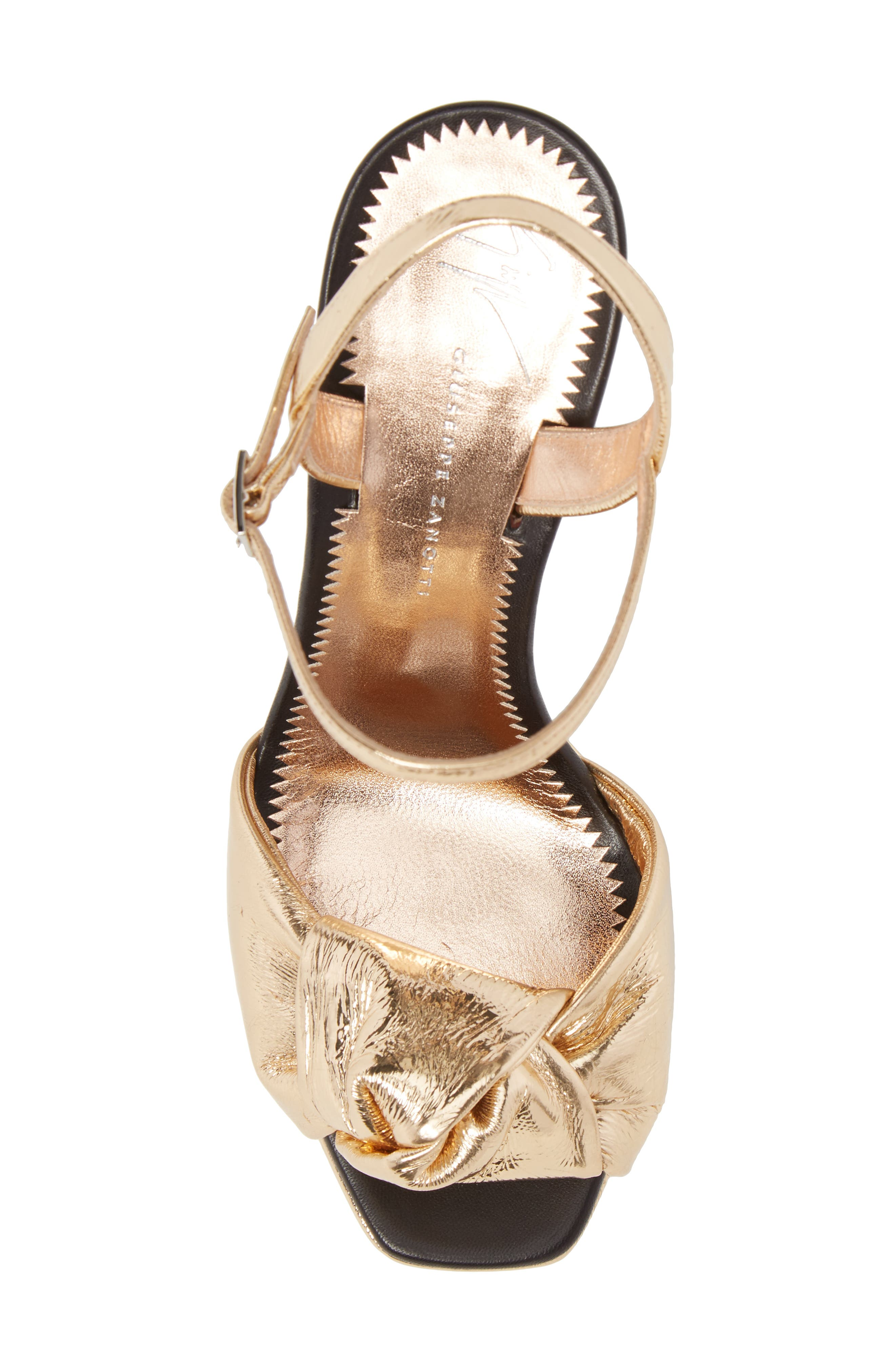 Lavinia Knot Sandal,                             Alternate thumbnail 5, color,                             Rose Gold
